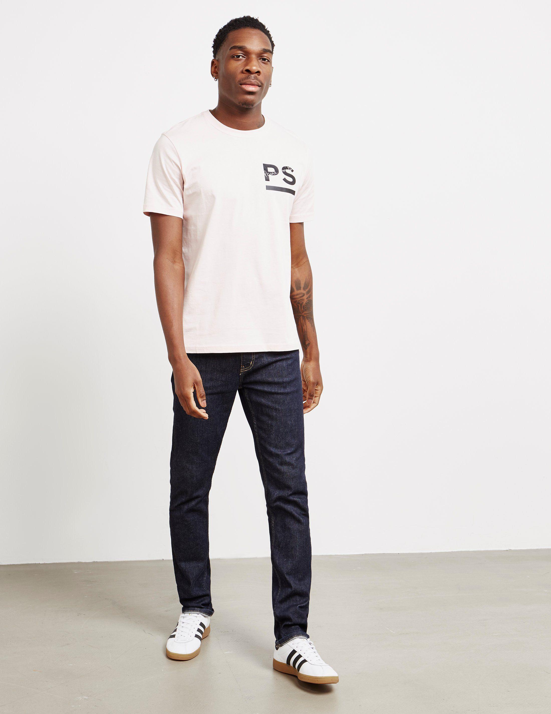 PS Paul Smith Rubber Logo Short Sleeve T-Shirt