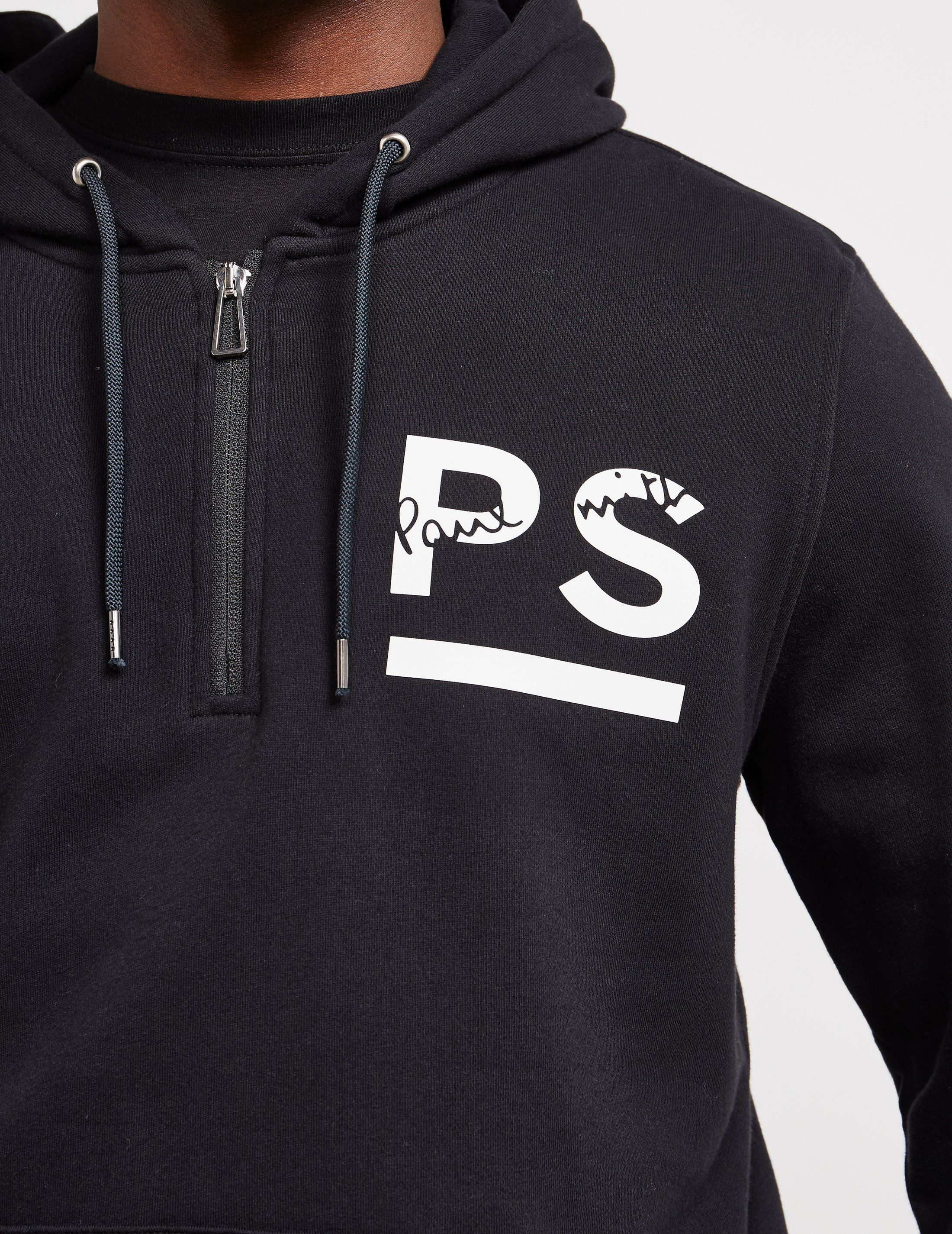 PS Paul Smith Rubber Logo Overhead Hoodie