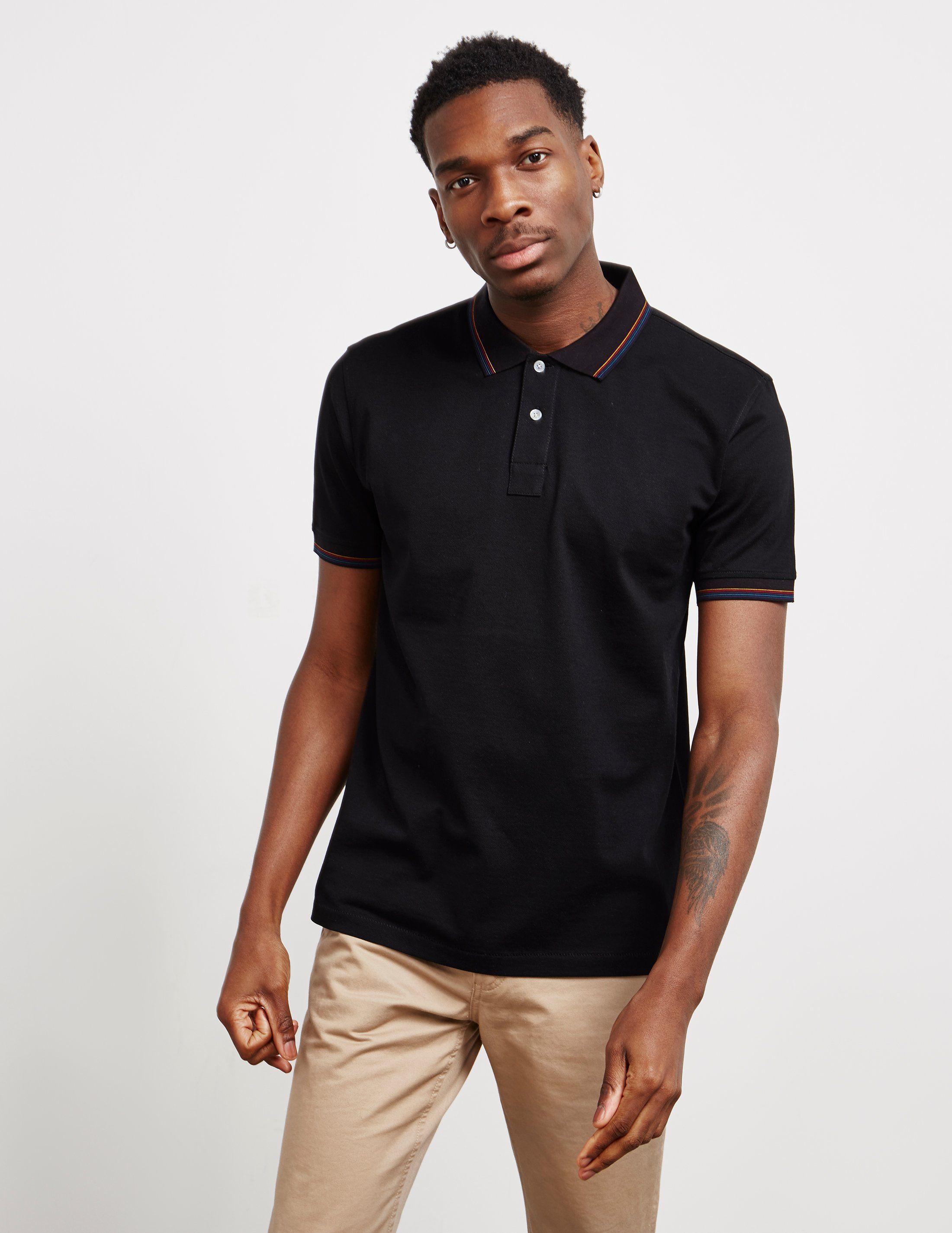 PS Paul Smith Tipped Short Sleeve Polo Shirt