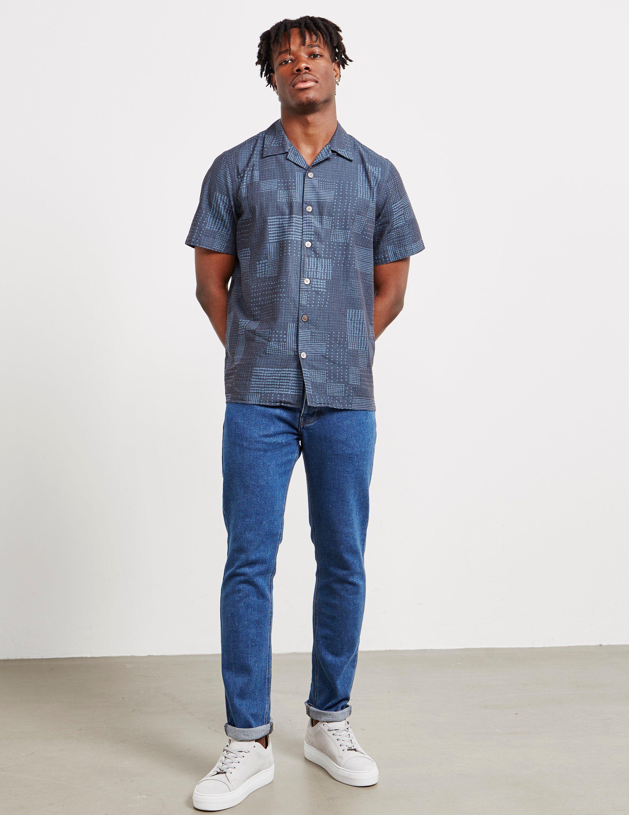 PS Paul Smith Ikat Print Short Sleeve Shirt - Online Exclusive