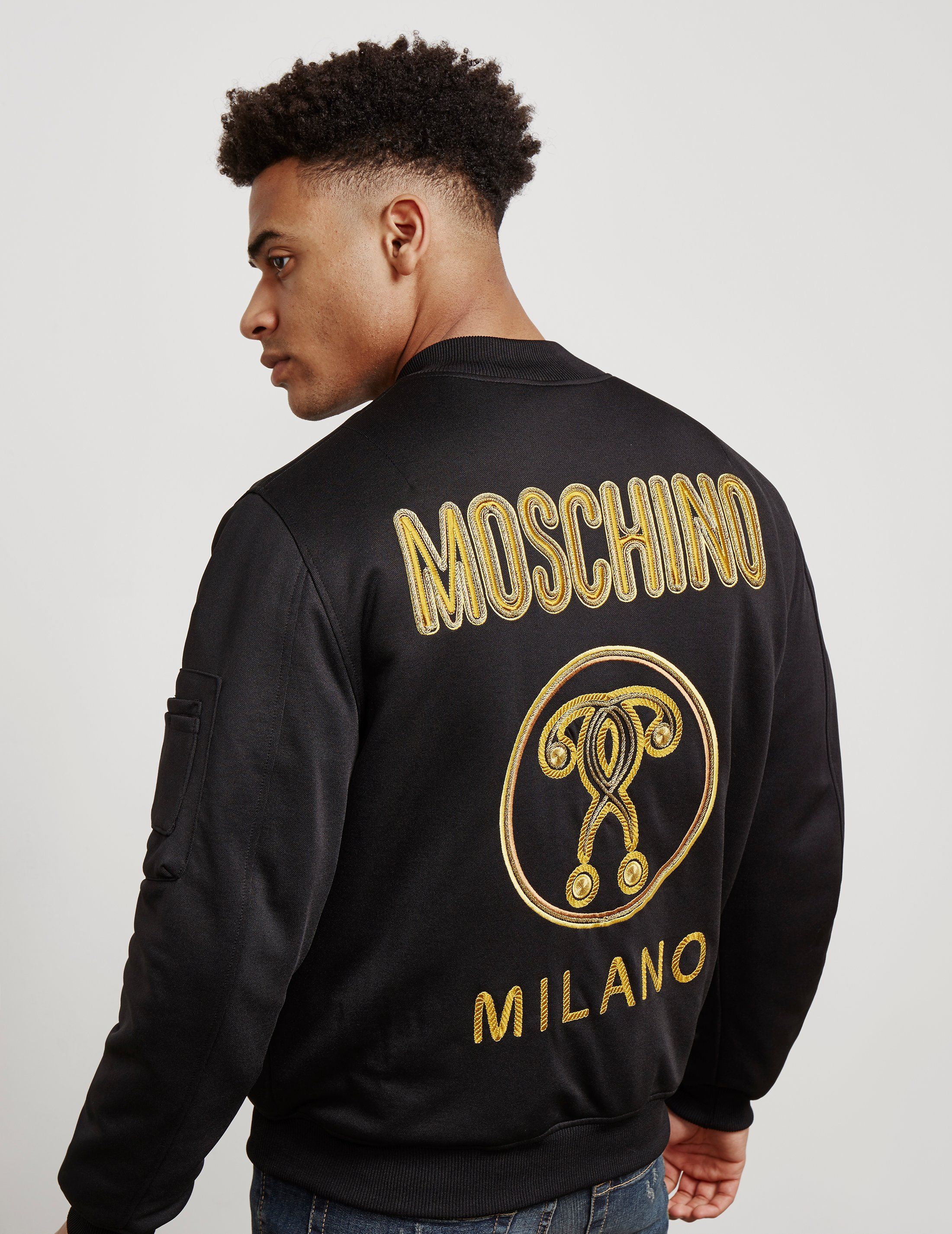 Moschino Milano Gold Bomber Jacket - Online Exclusive