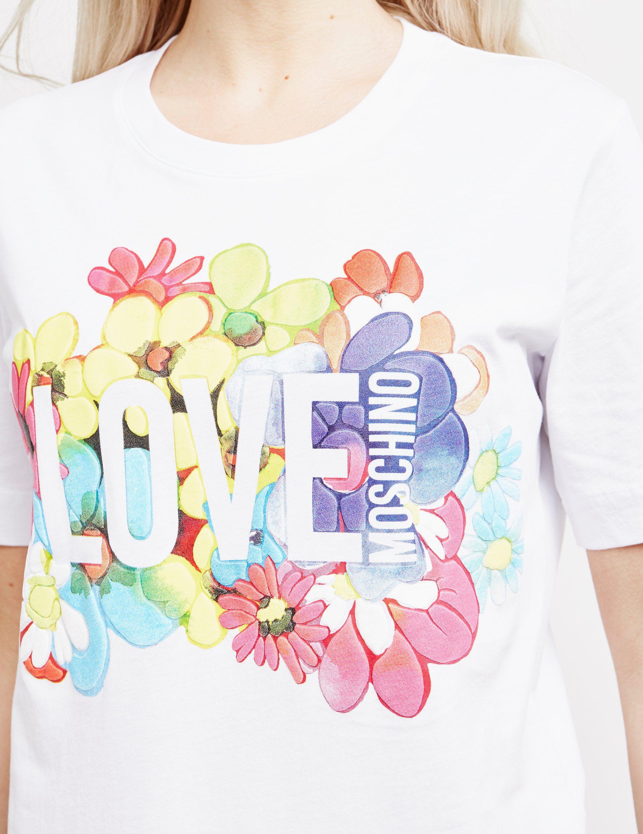 Love Moschino Floral Short Sleeve T-Shirt