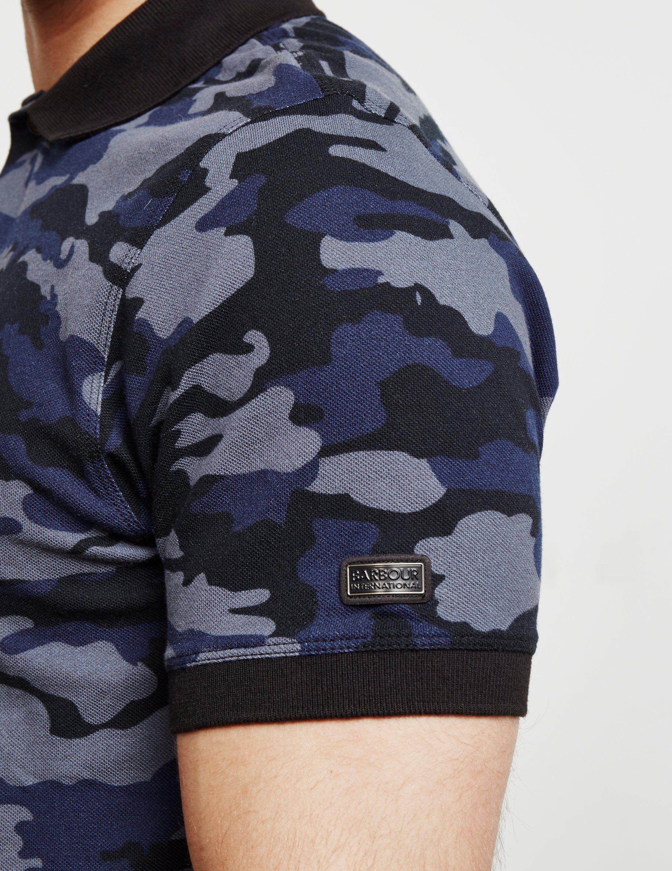 Barbour International Camo Short Sleeve Polo Shirt