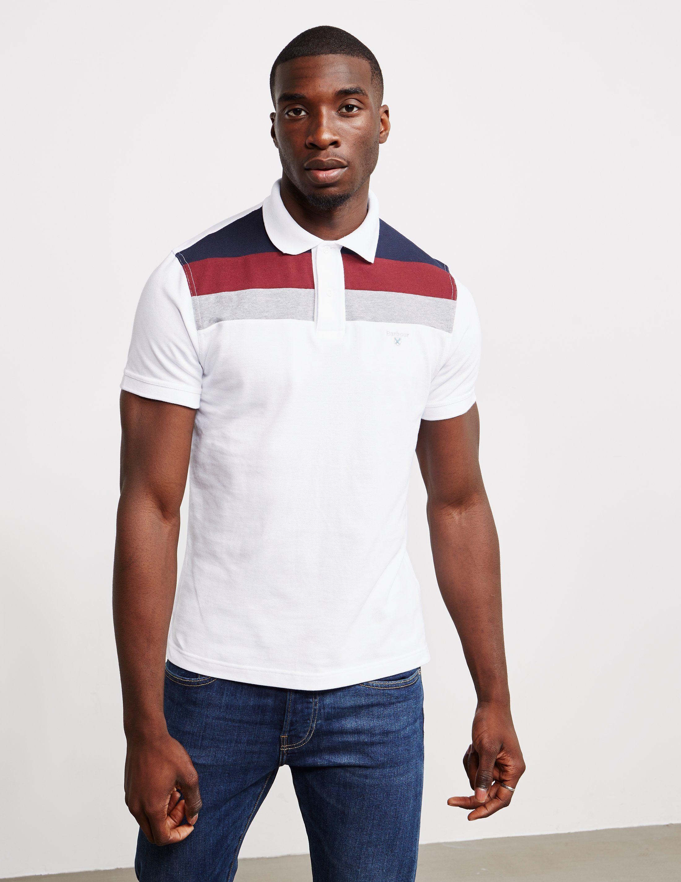 Barbour Shaldon Panel Short Sleeve Polo Shirt
