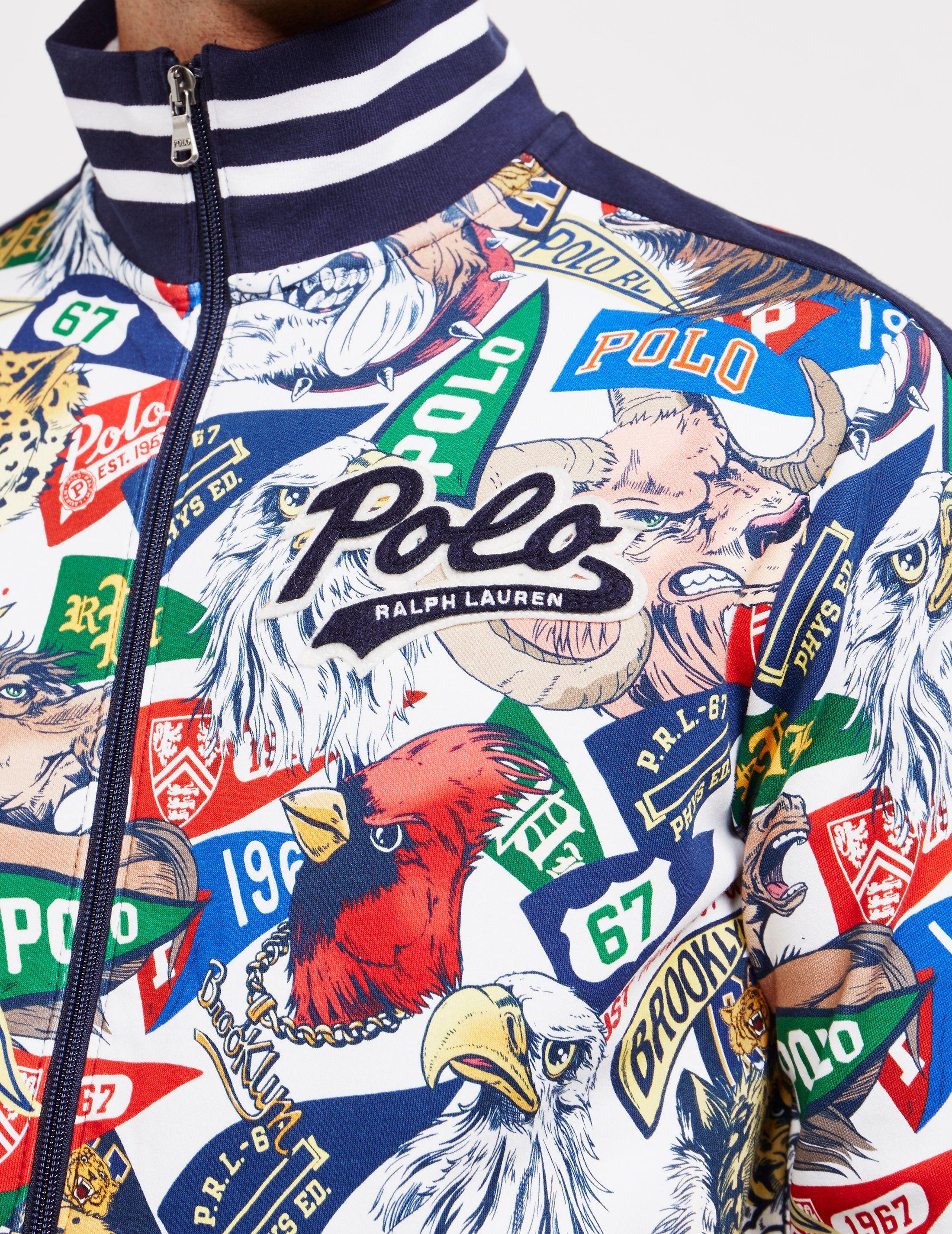 Polo Ralph Lauren All Over Mascot Track Top - Online Exclusive