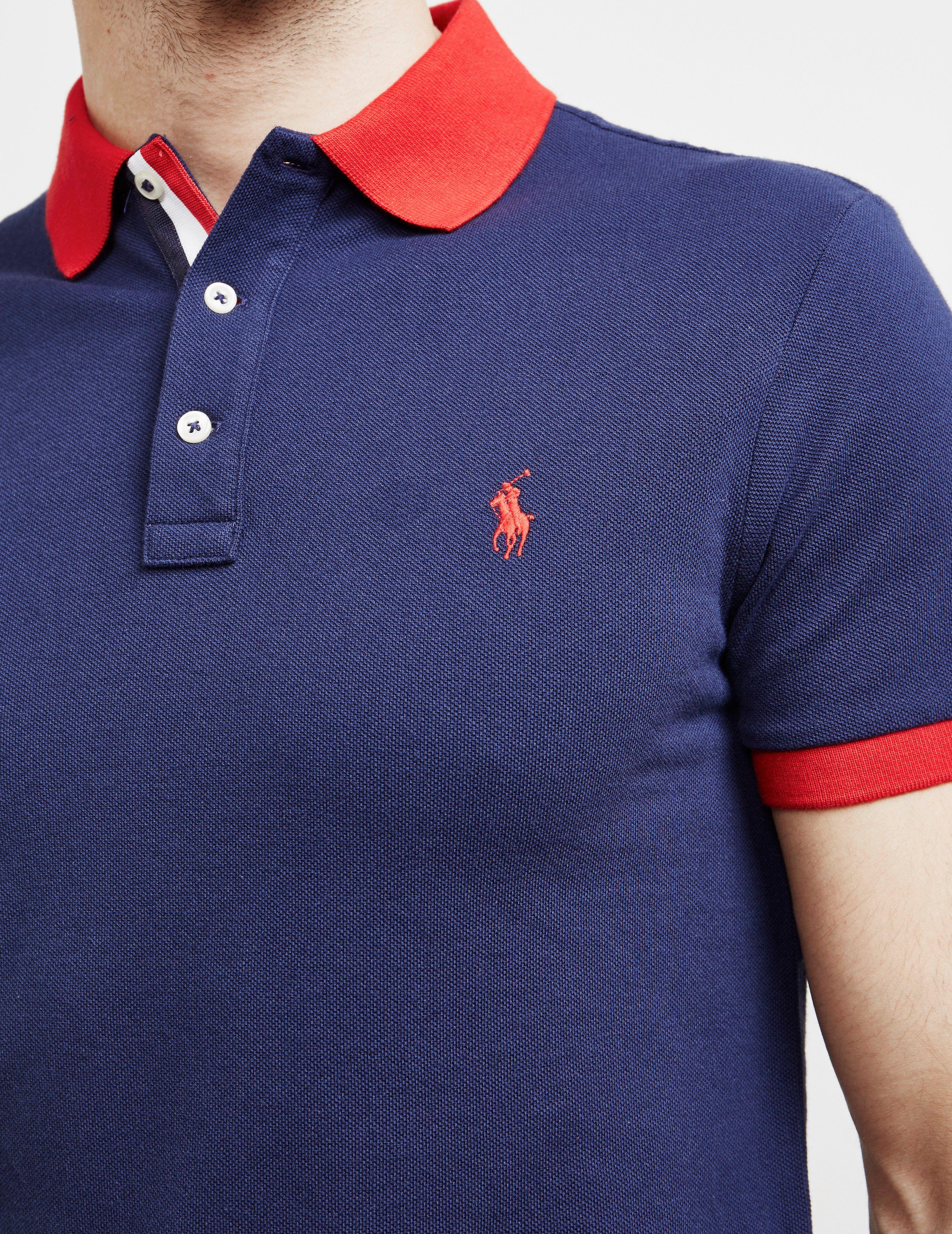 Polo Ralph Lauren Tipped Placket Short Sleeve Polo Shirt