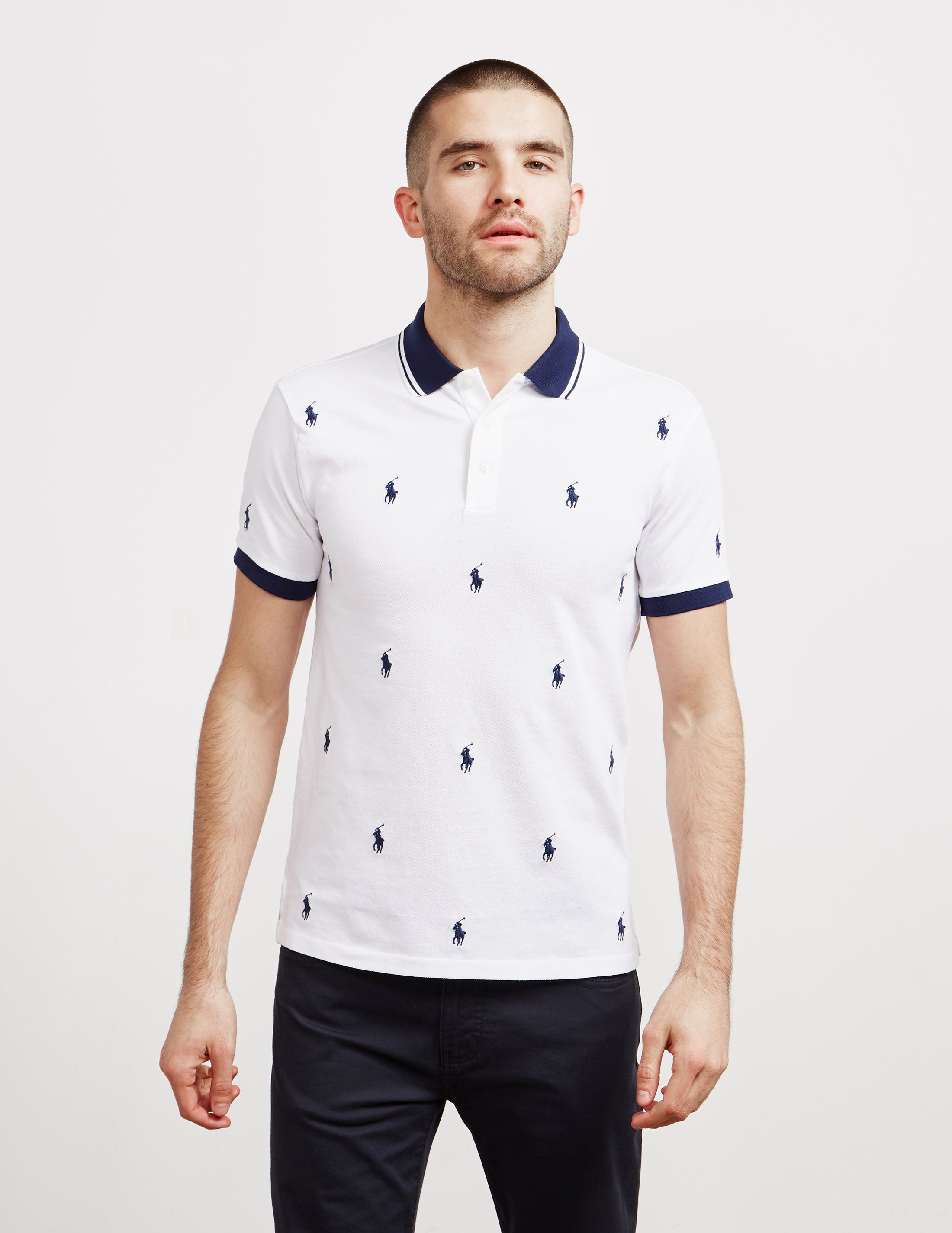 Polo Ralph Lauren All Over Print Short Sleeve Polo Shirt