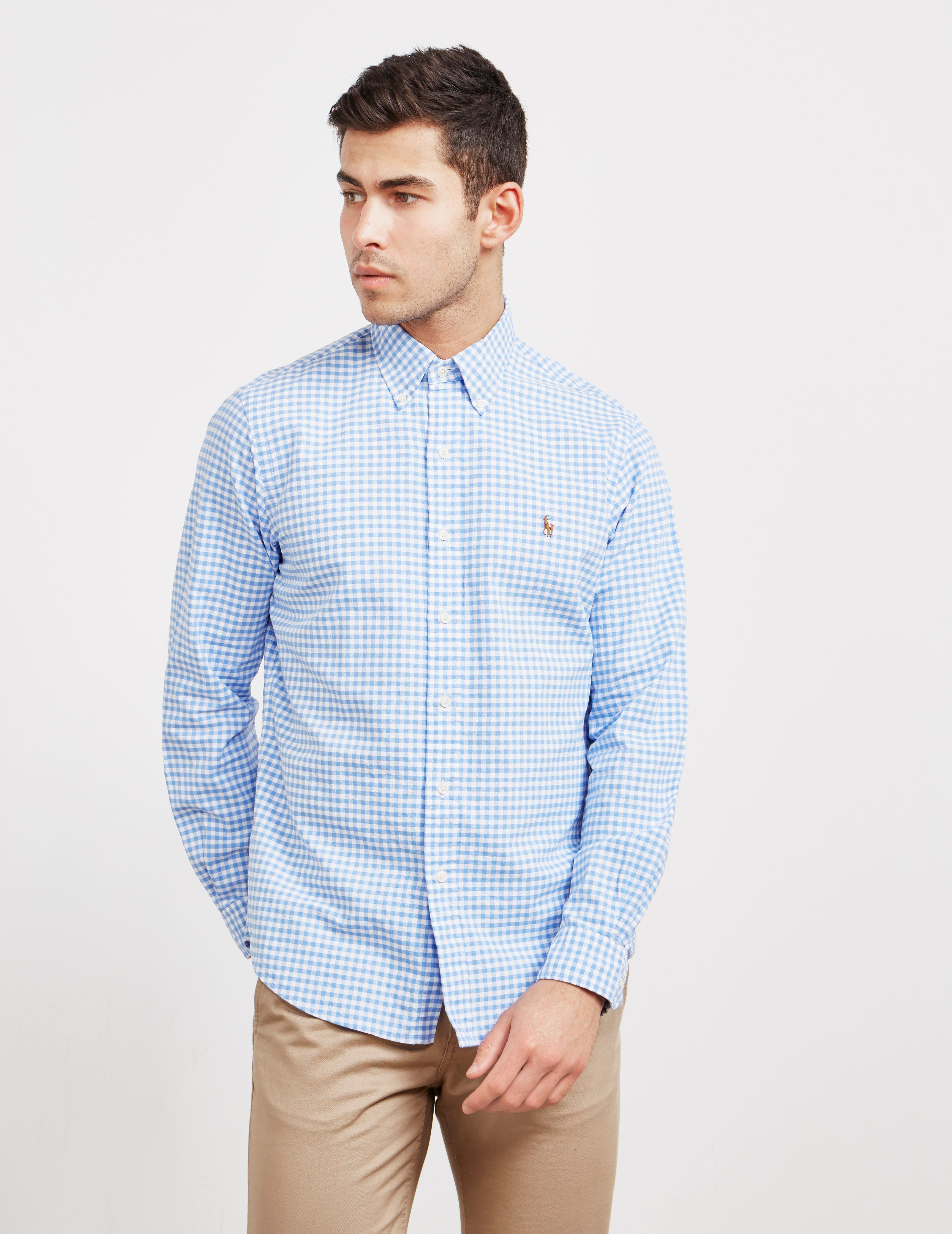Polo Ralph Lauren Gingham Long Sleeve Slim Shirt