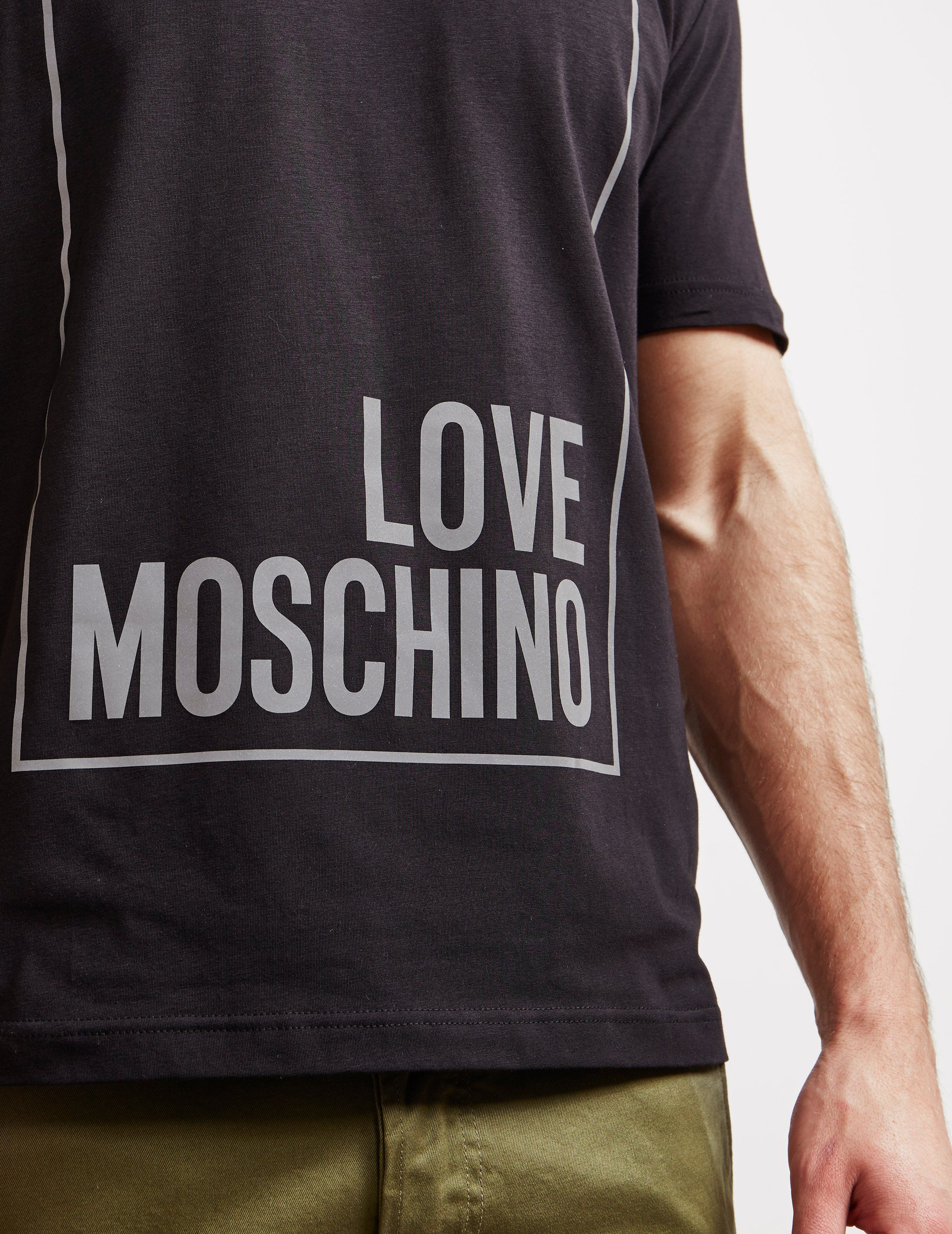 Love Moschino Reflective Box Short Sleeve T-Shirt