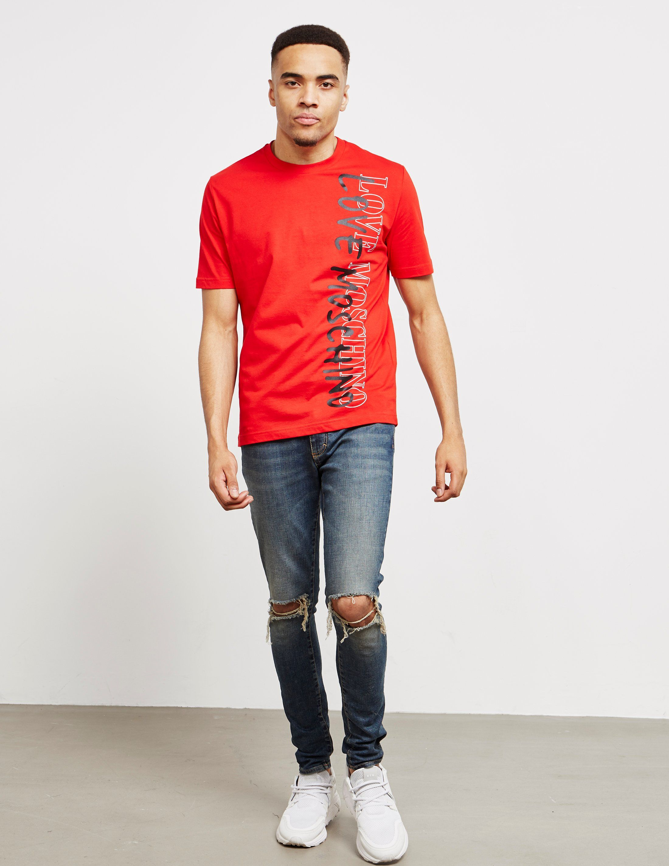 Love Moschino Side Script Short Sleeve T-Shirt