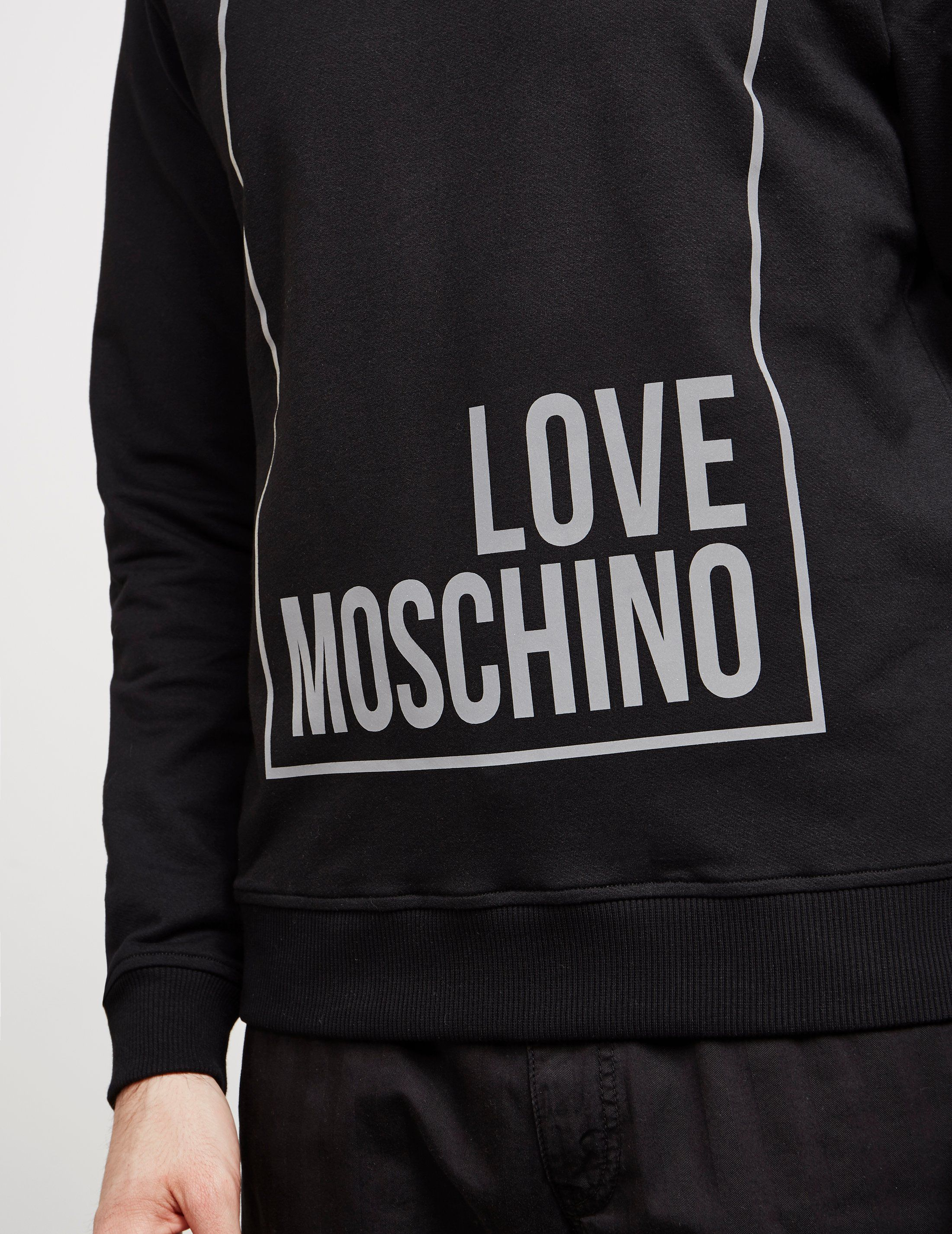 Love Moschino Reflective Box Sweatshirt