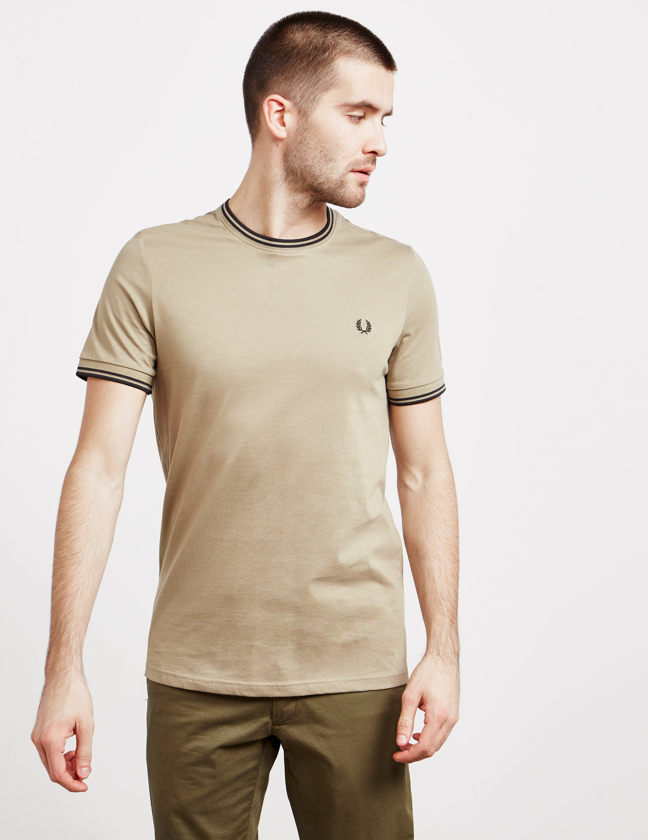 Fred Perry Twin Tipped Ringer Short Sleeve T-Shirt