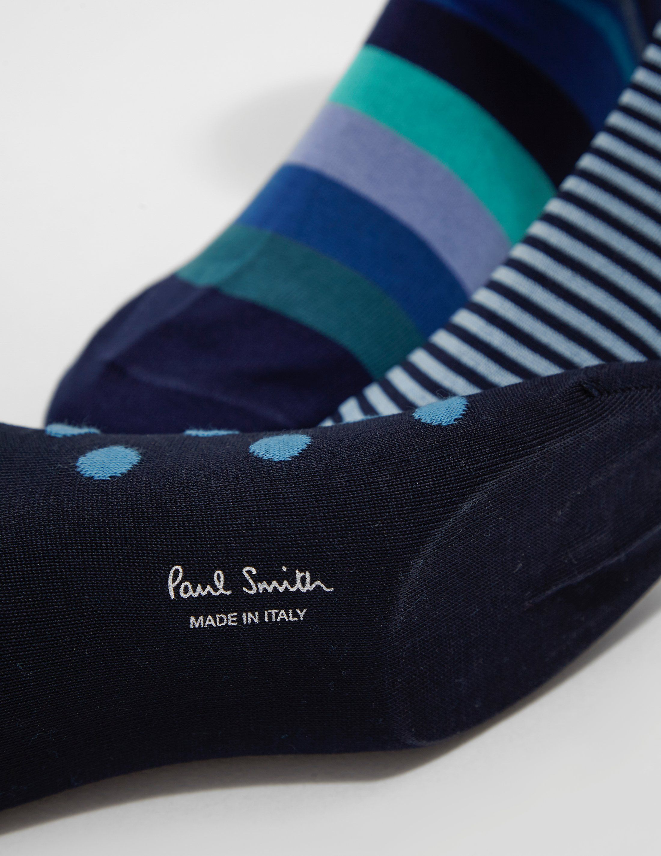 PS Paul Smith 3-Pack Stripe and Spot Socks