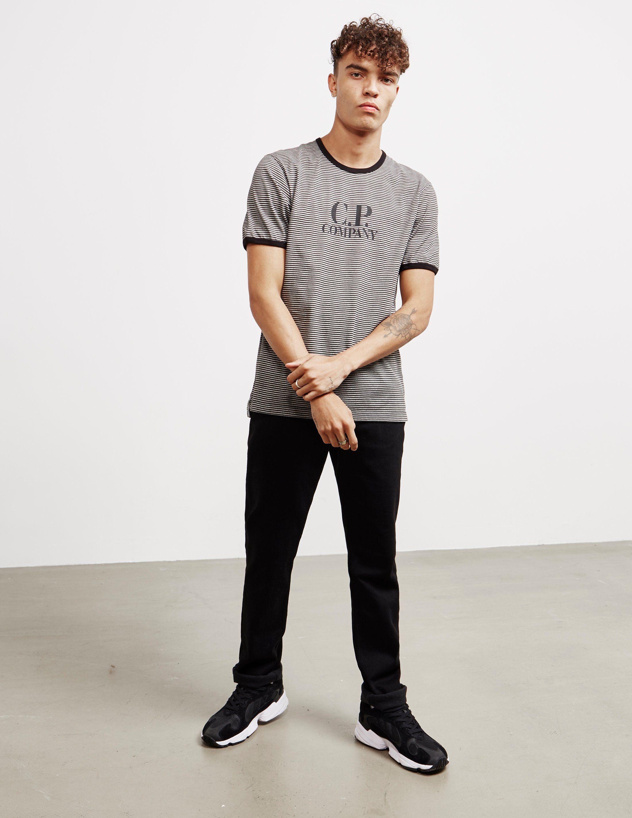 CP Company Logo Stripe Short Sleeve T-Shirt