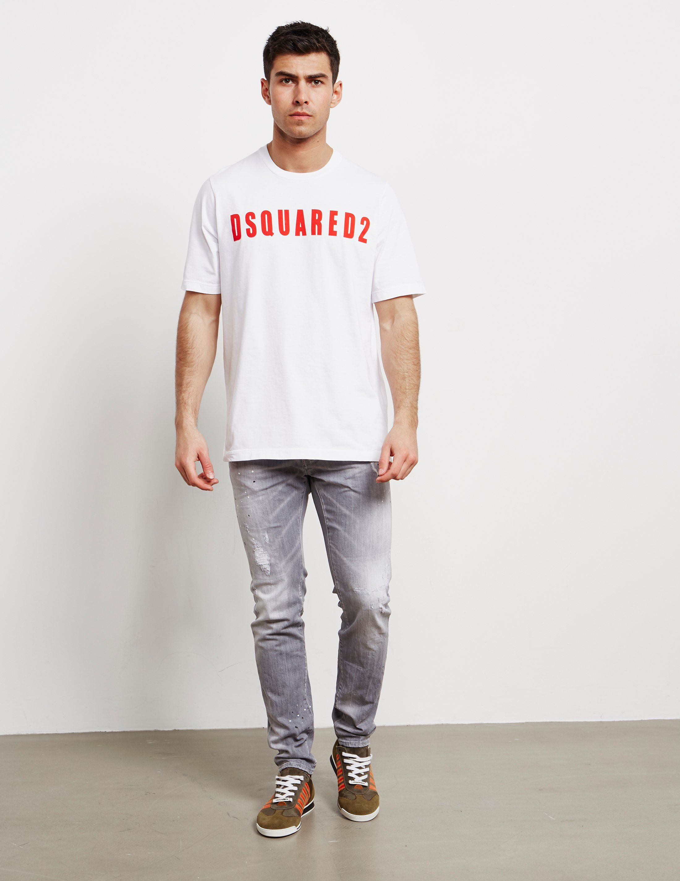 Dsquared2 Letter Logo Short Sleeve T-Shirt
