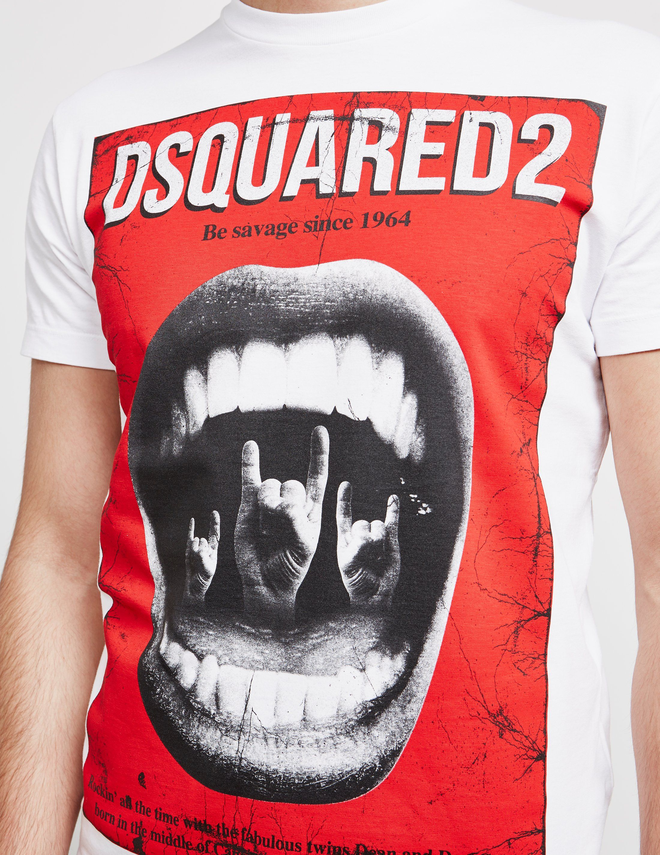 Dsquared2 Mouth Short Sleeve T-Shirt