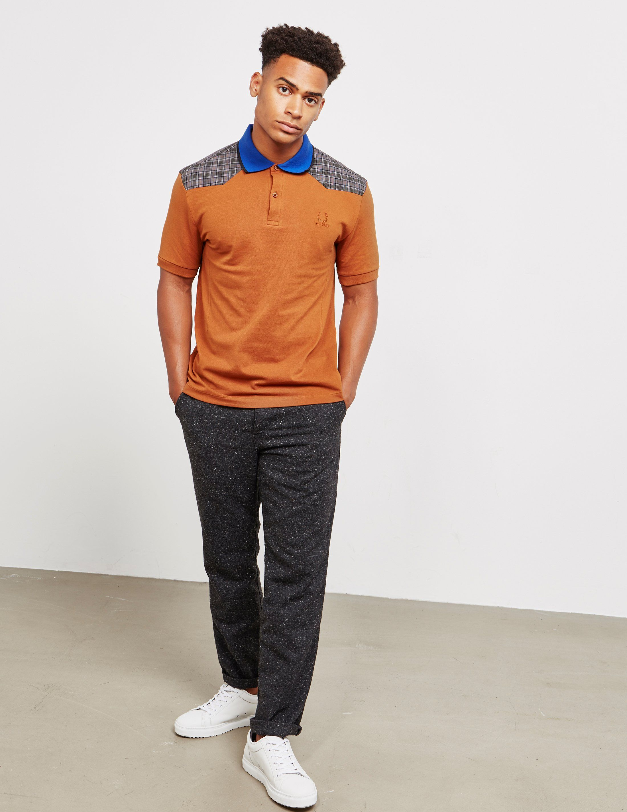 Fred Perry x Raf Simons Check Short Sleeve Polo Shirt