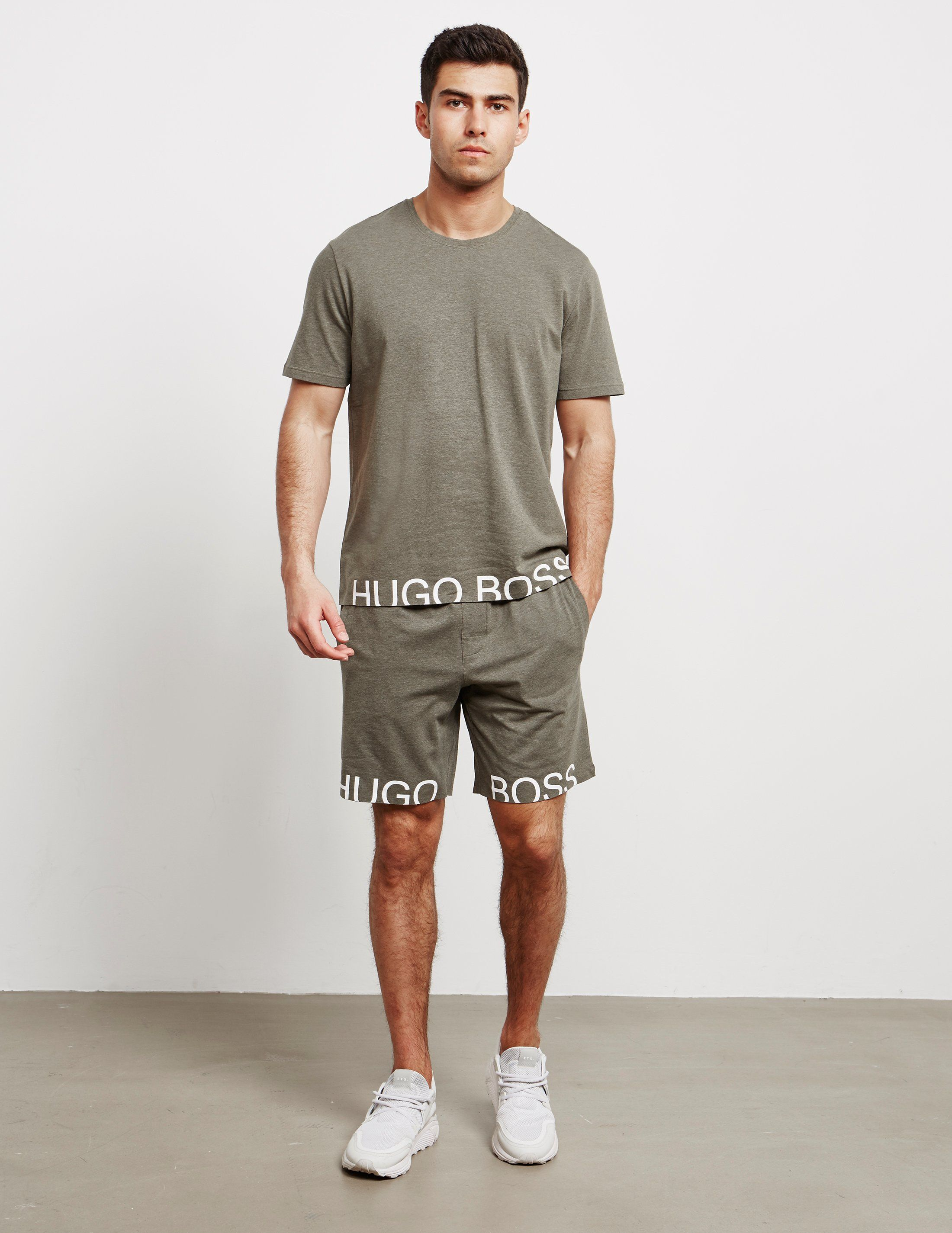 BOSS Hem Brand Shorts - Online Exclusive