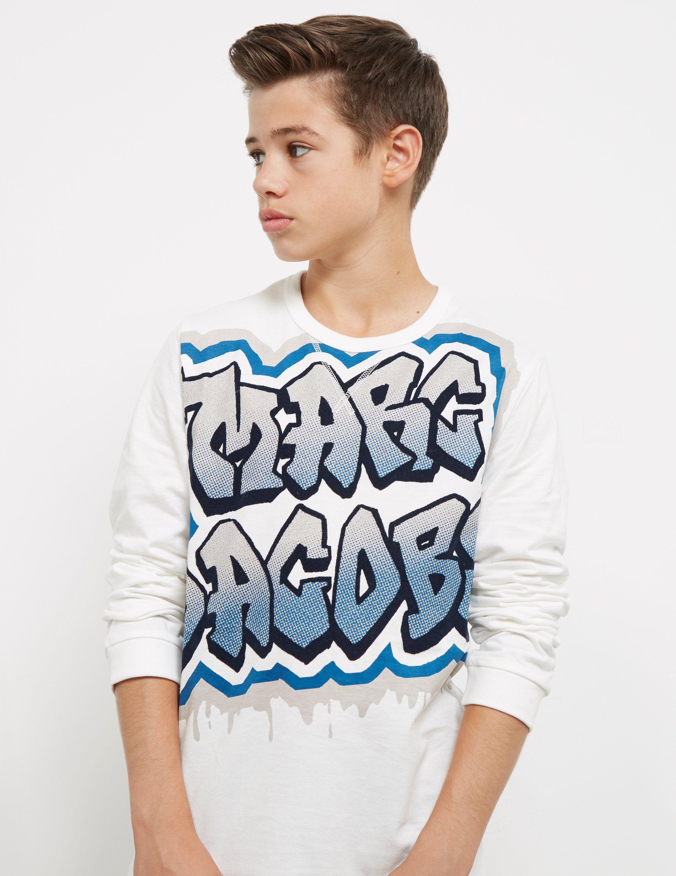 Little Marc Jacobs Graffiti Long Sleeve T-Shirt - Online Exclusive