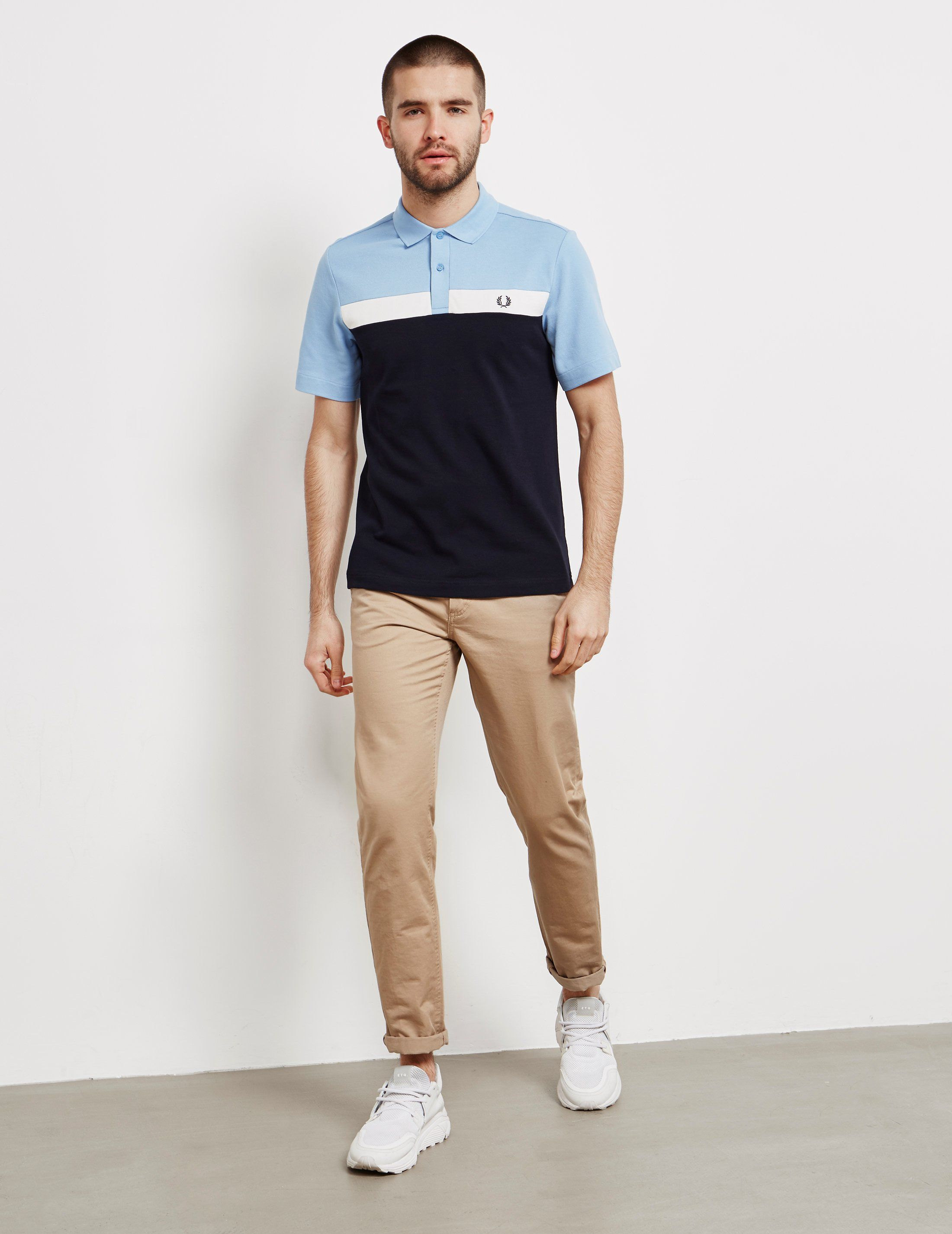Fred Perry Panel Pique Short Sleeve Polo Shirt