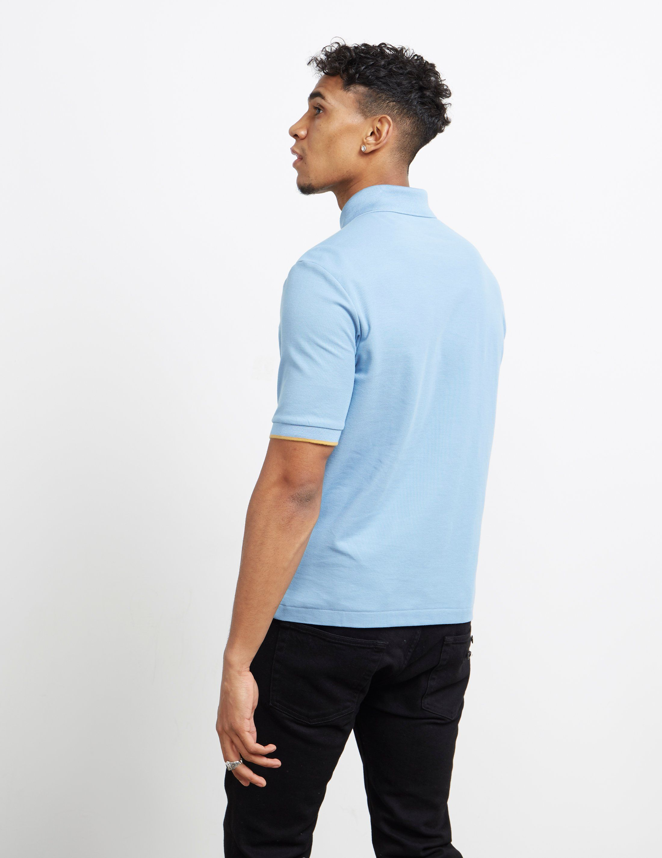 Fred Perry x Miles Kane Short Sleeve Zip Polo Shirt