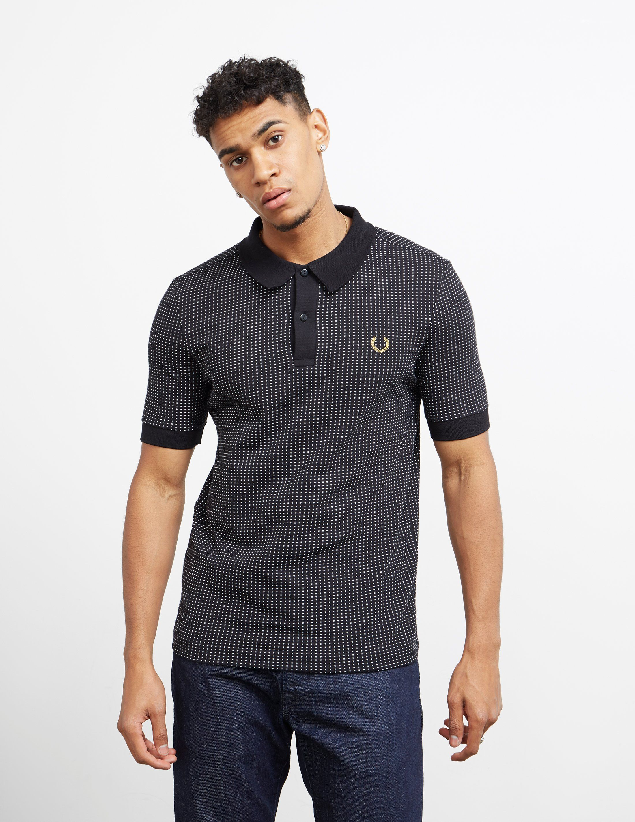 Fred Perry x Miles Kane Short Sleeve Jacquard Polo Shirt