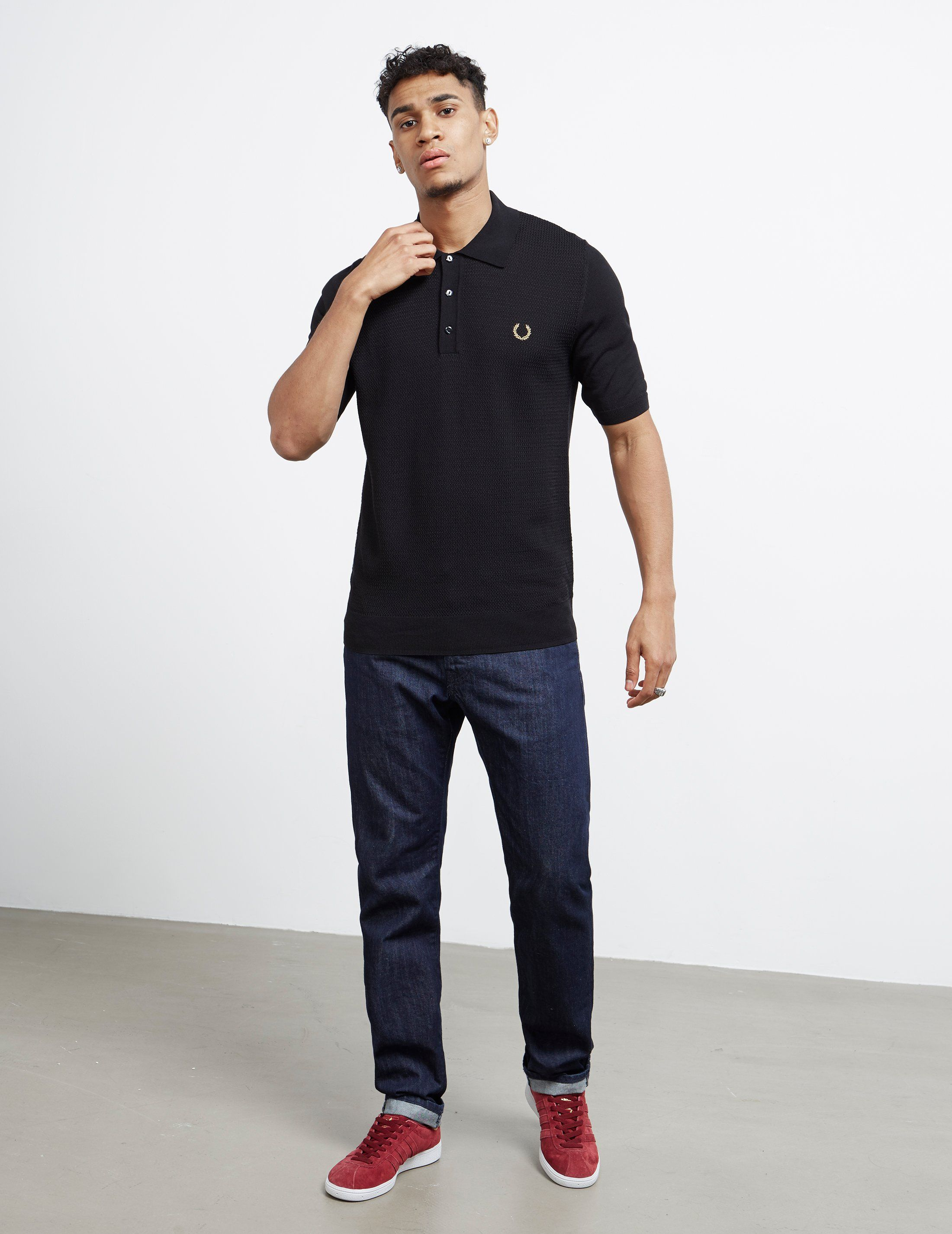 Fred Perry x Miles Kane Panel Knitted Polo Shirt