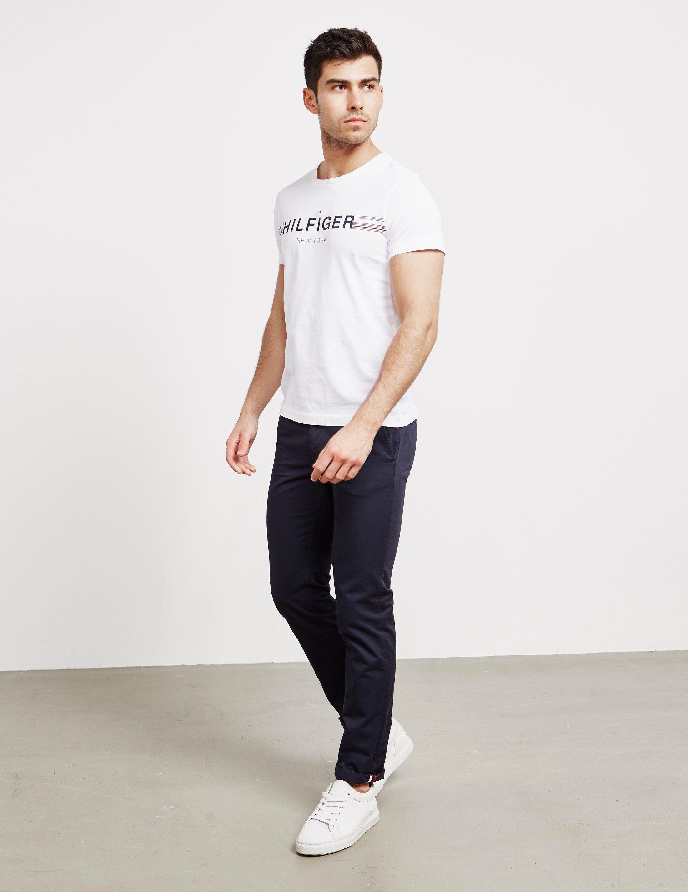 Tommy Hilfiger Logo Stripe Short Sleeve T-Shirt