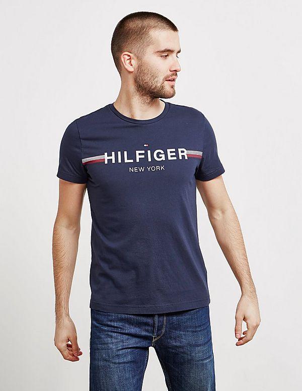 Tommy Hilfiger Logo Stripe Short Sleeve T-Shirt  e2f27c9709c
