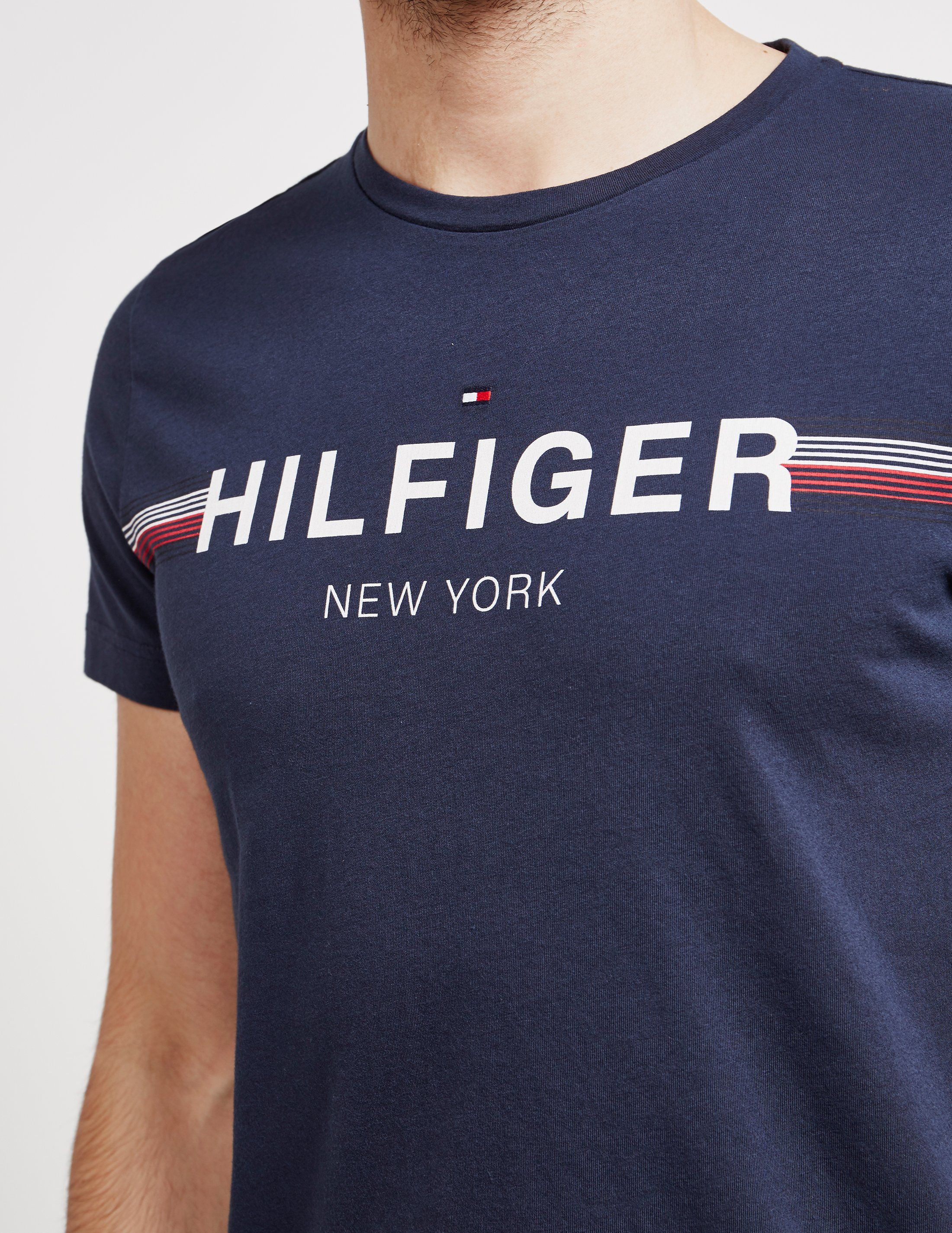 Tommy Hilfiger Logo Stripe Short Sleeve T-Shirt