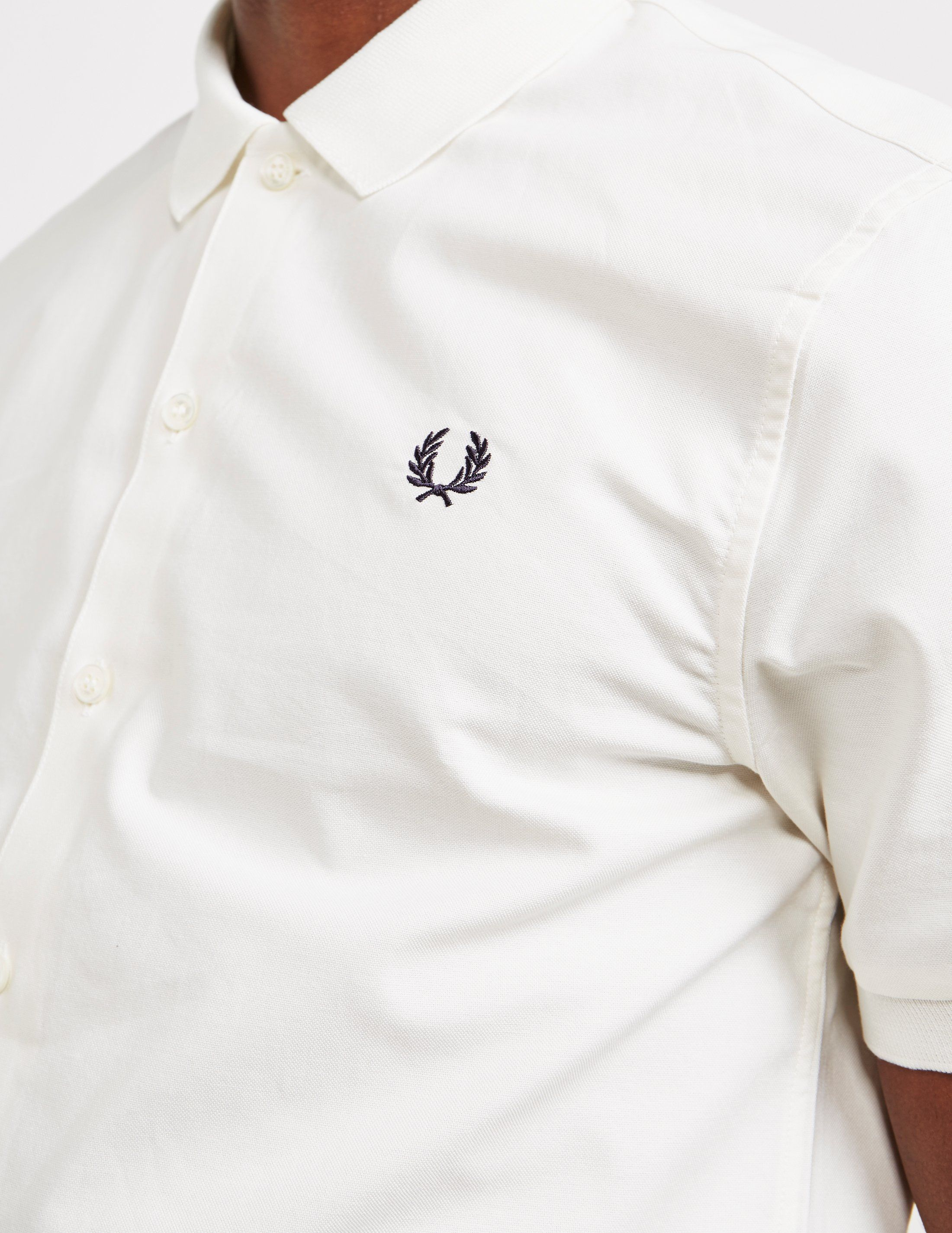 Fred Perry Knit Collar Short Sleeve Oxford Shirt