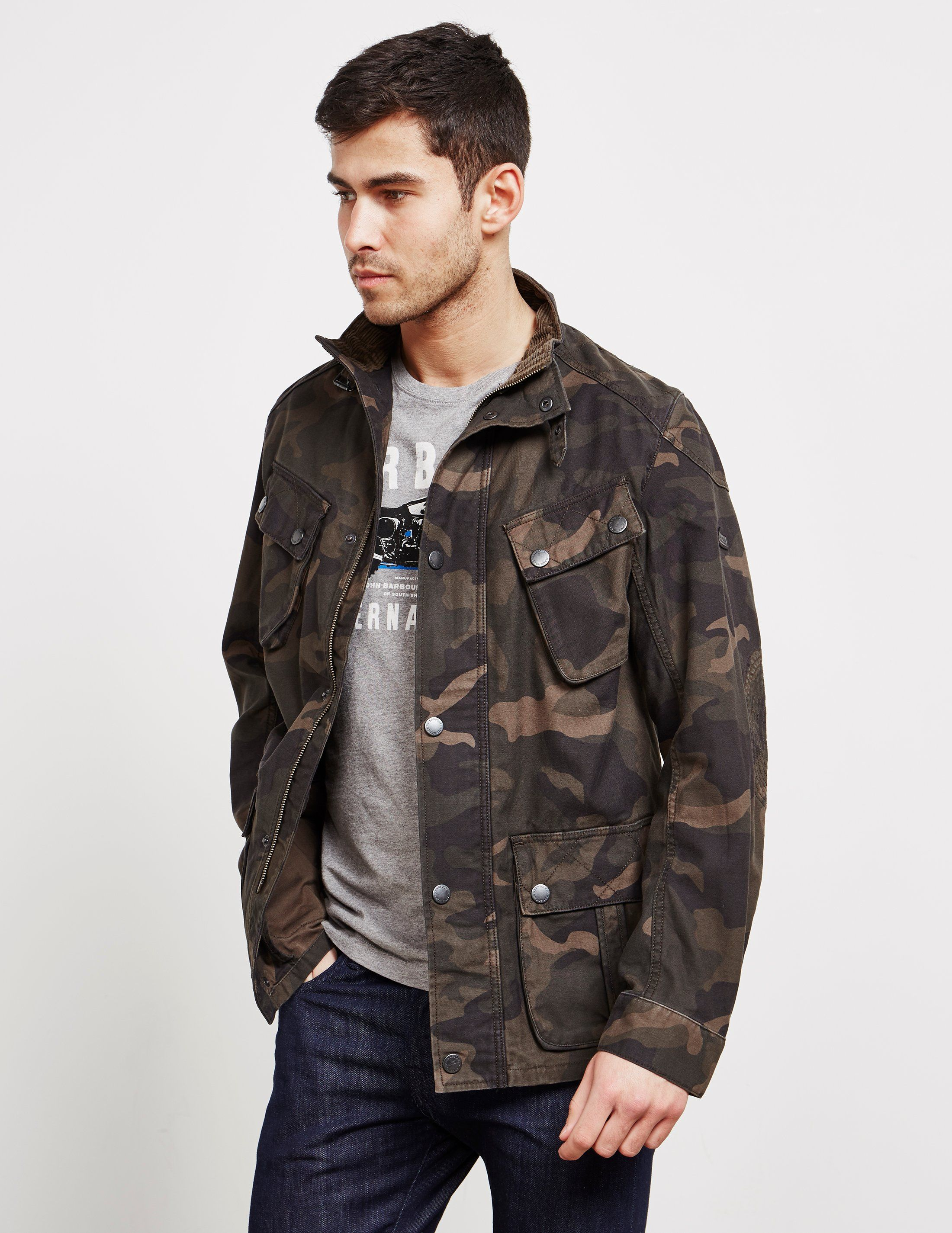 Barbour International Washed Camo Jacket