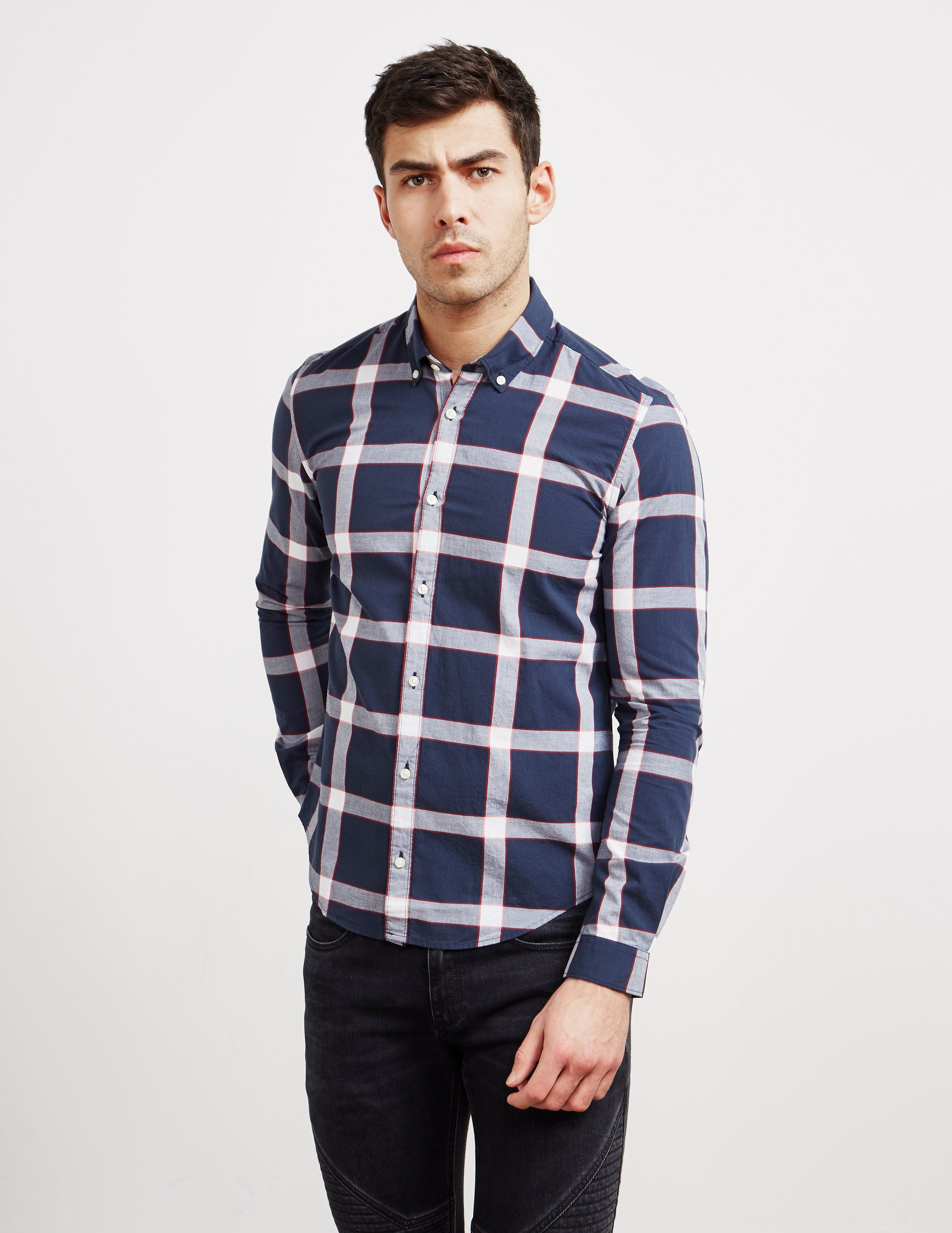 Barbour International Long Sleeve Check Shirt