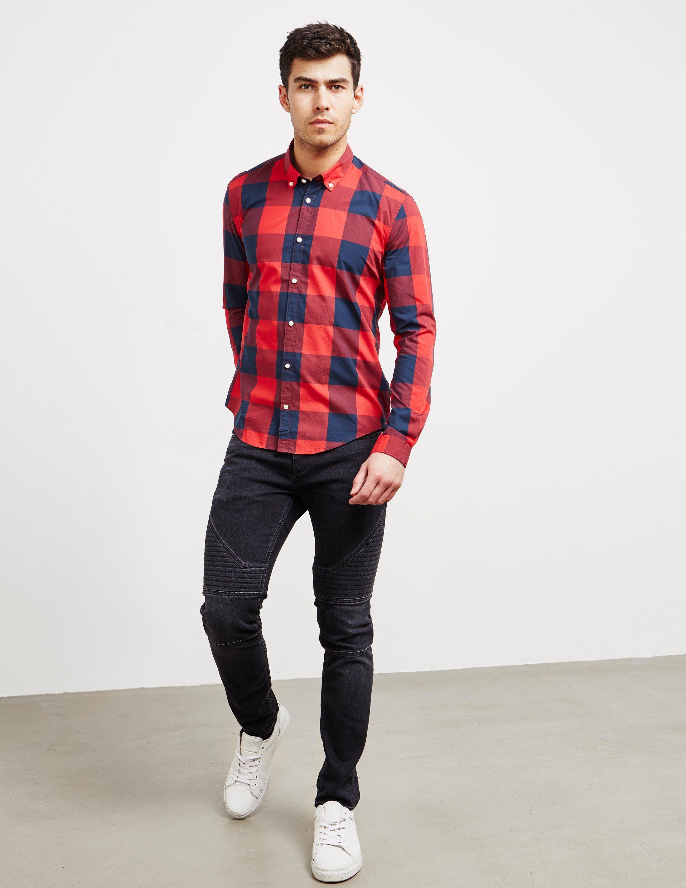 Barbour International Bold Gingham Long Sleeve Shirt