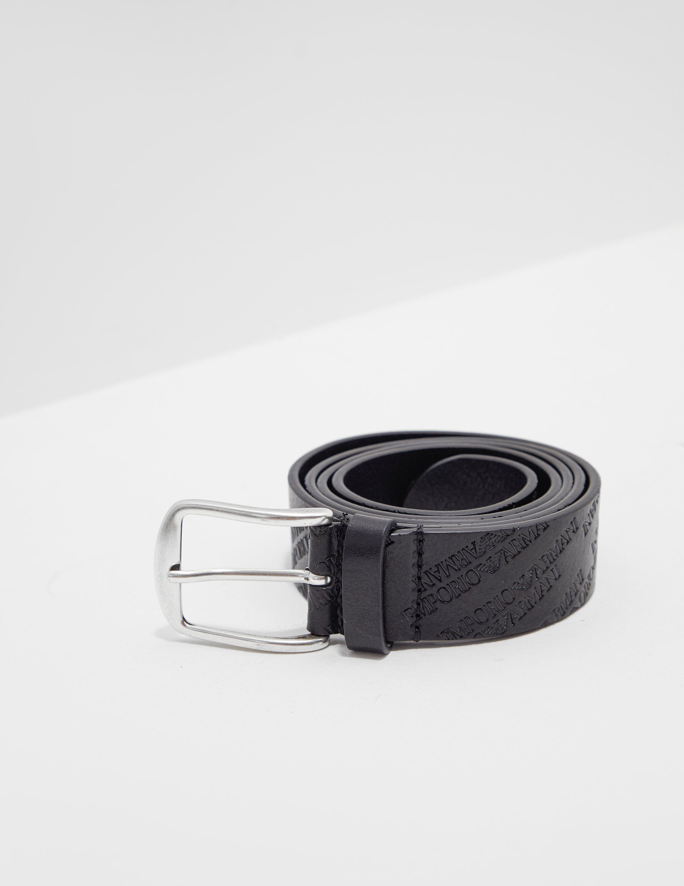 Emporio Armani All Over Logo Belt
