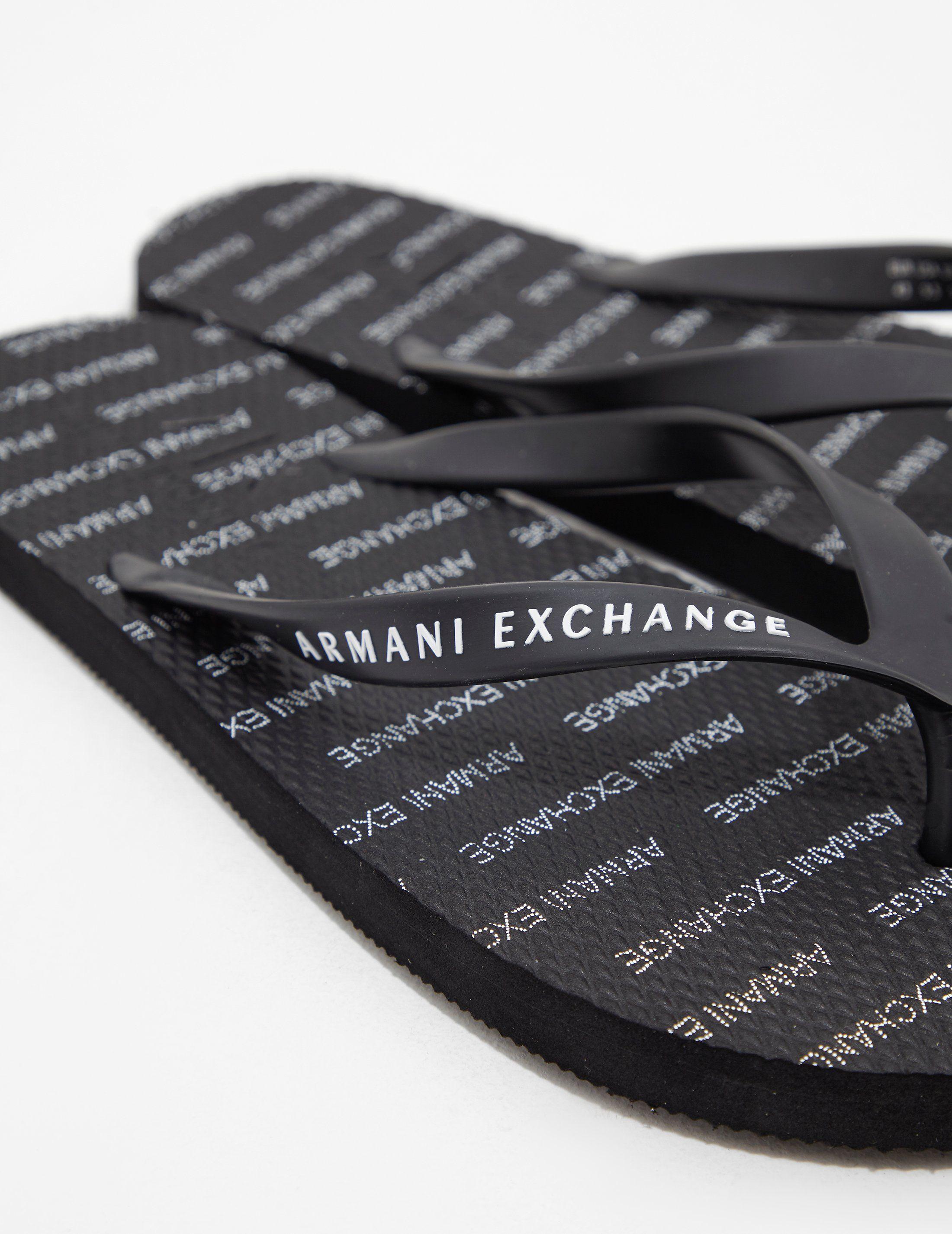 Armani Exchange Beach Flip Flops