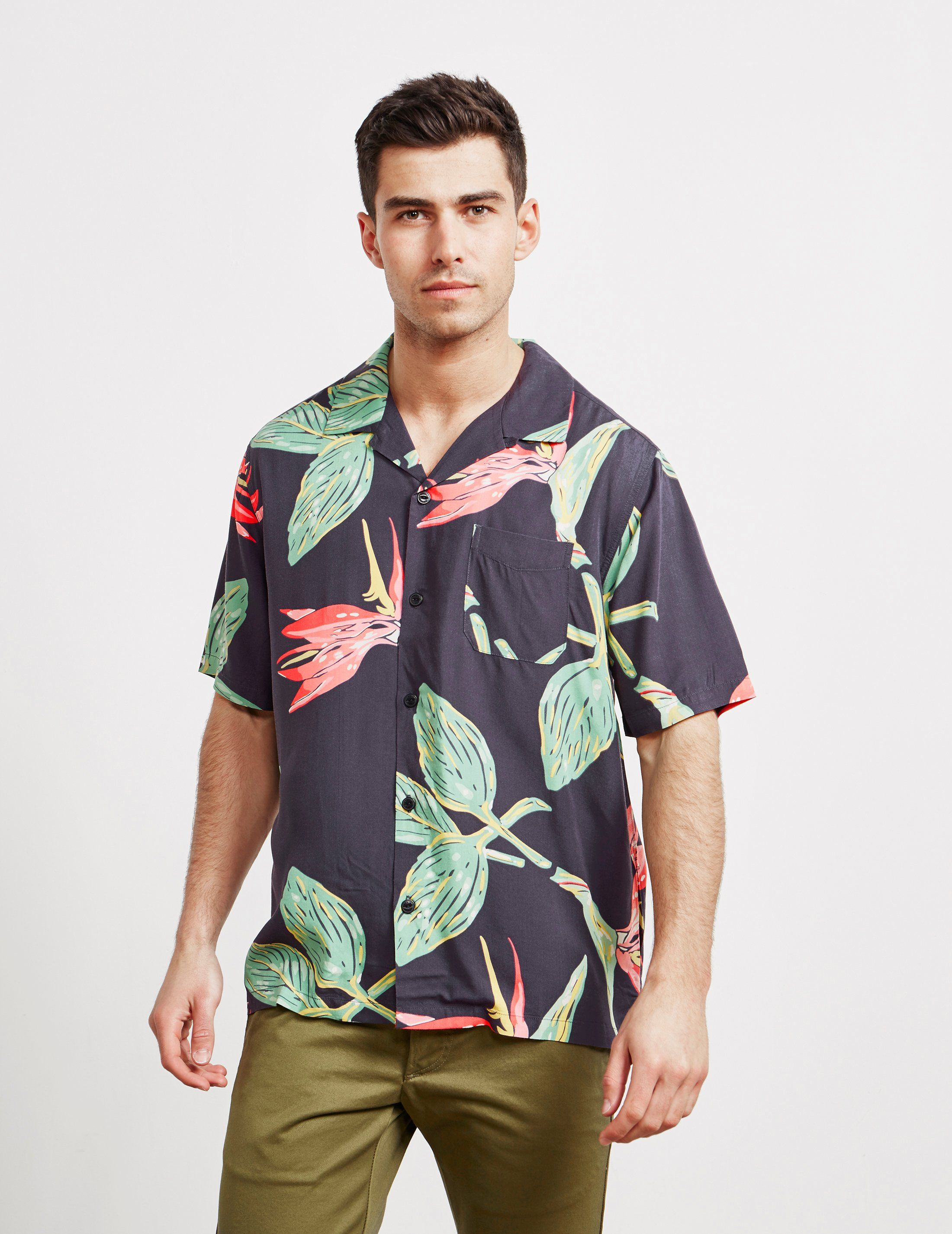Edwin Resort Birds Short Sleeve Shirt