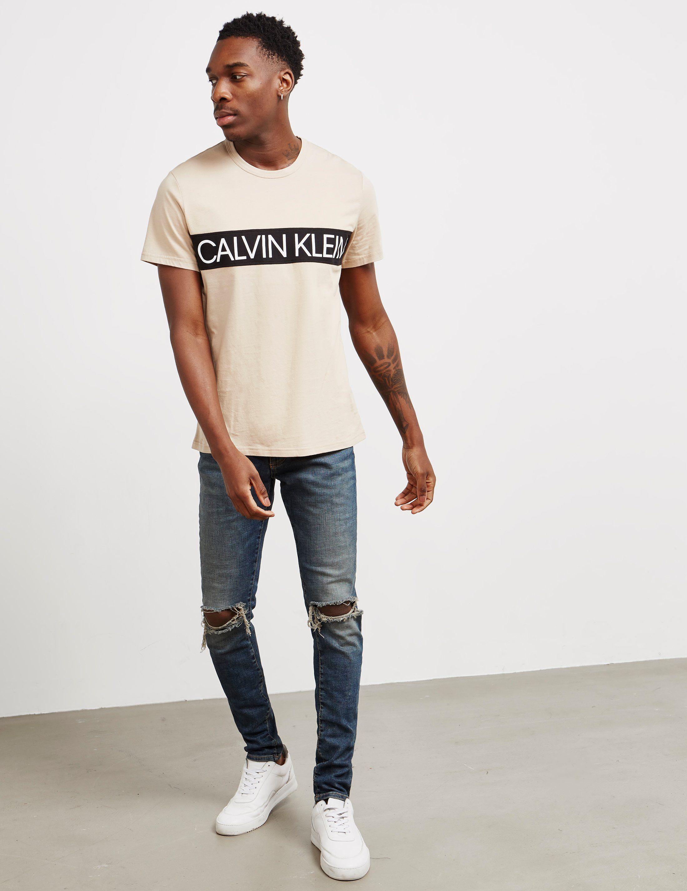 Calvin Klein Panel Logo Short Sleeve T-Shirt