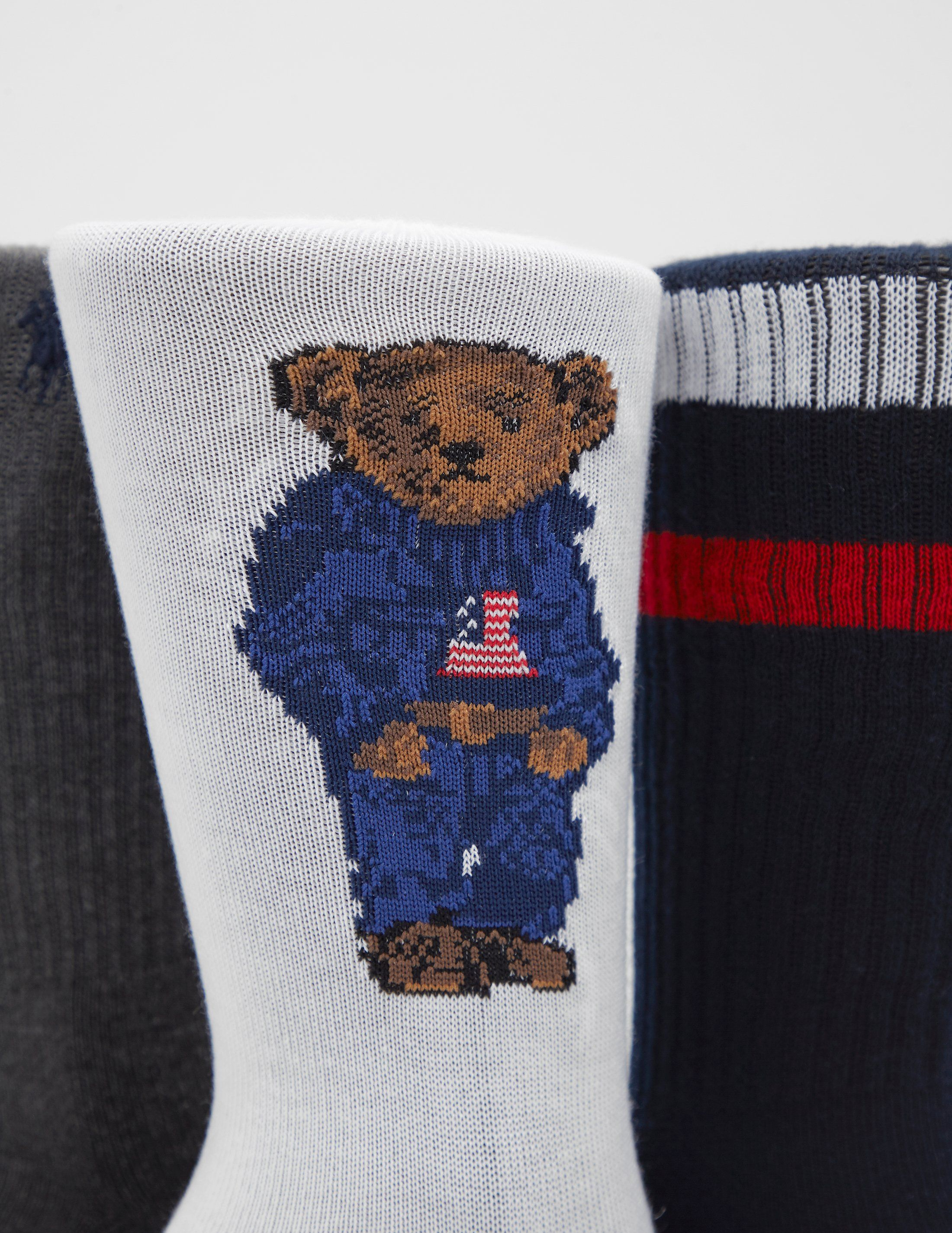 Polo Ralph Lauren 3-Pack Bear Socks