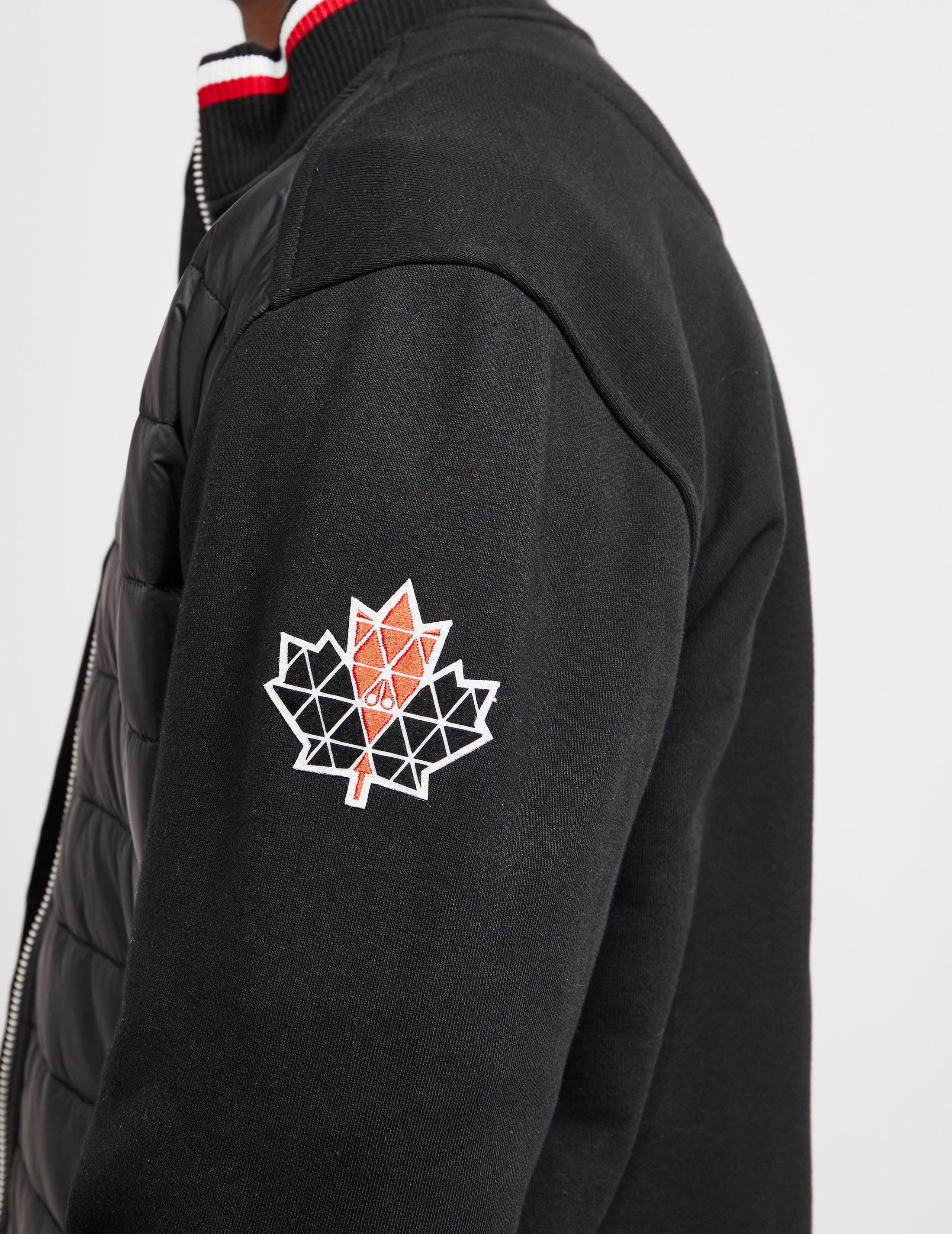 Moose Knuckles Quilted Bomber Jacket