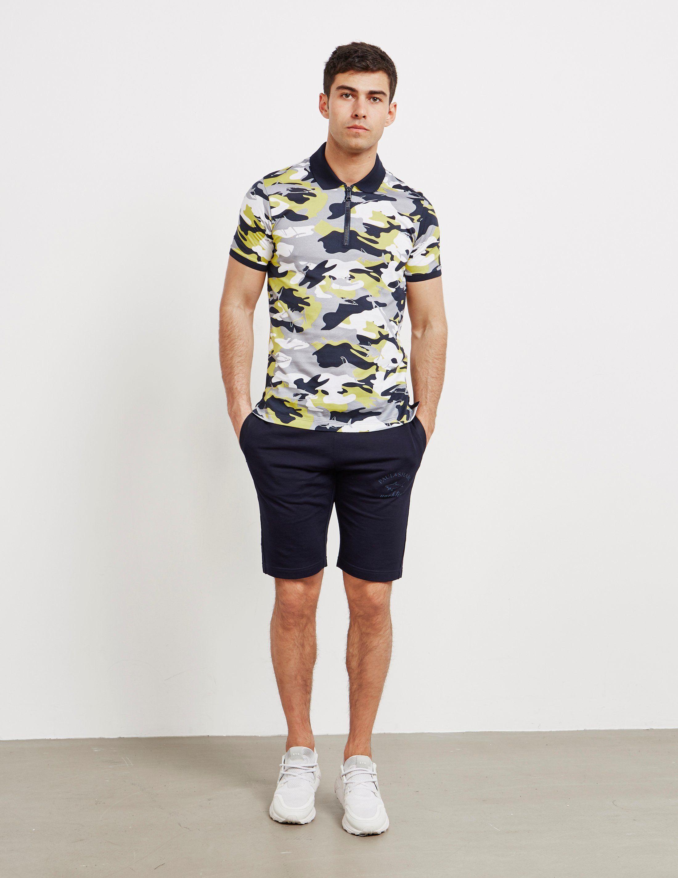 Paul and Shark Logo Fleece Shorts