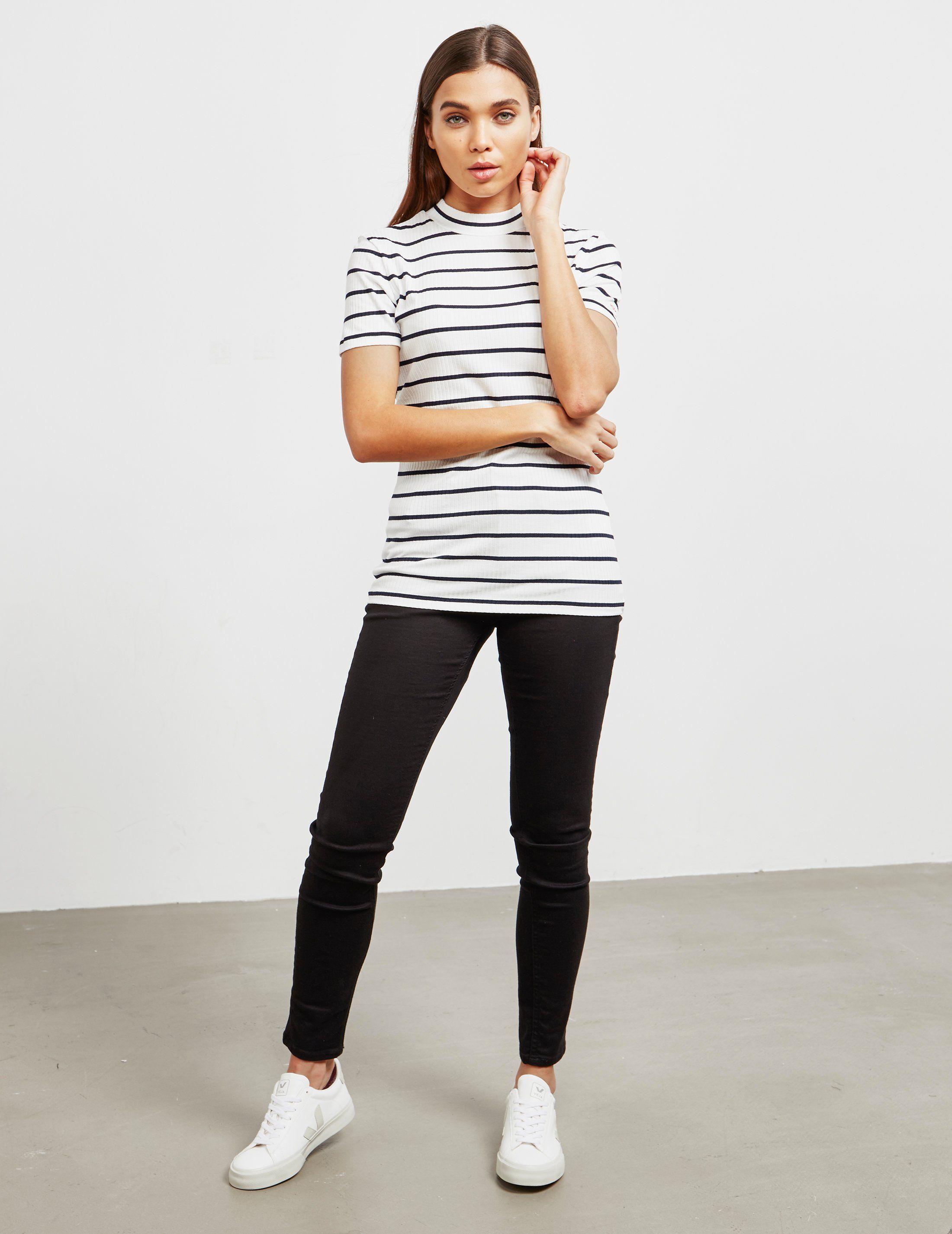 HUGO Daroline High Neck Short Sleeve T-Shirt