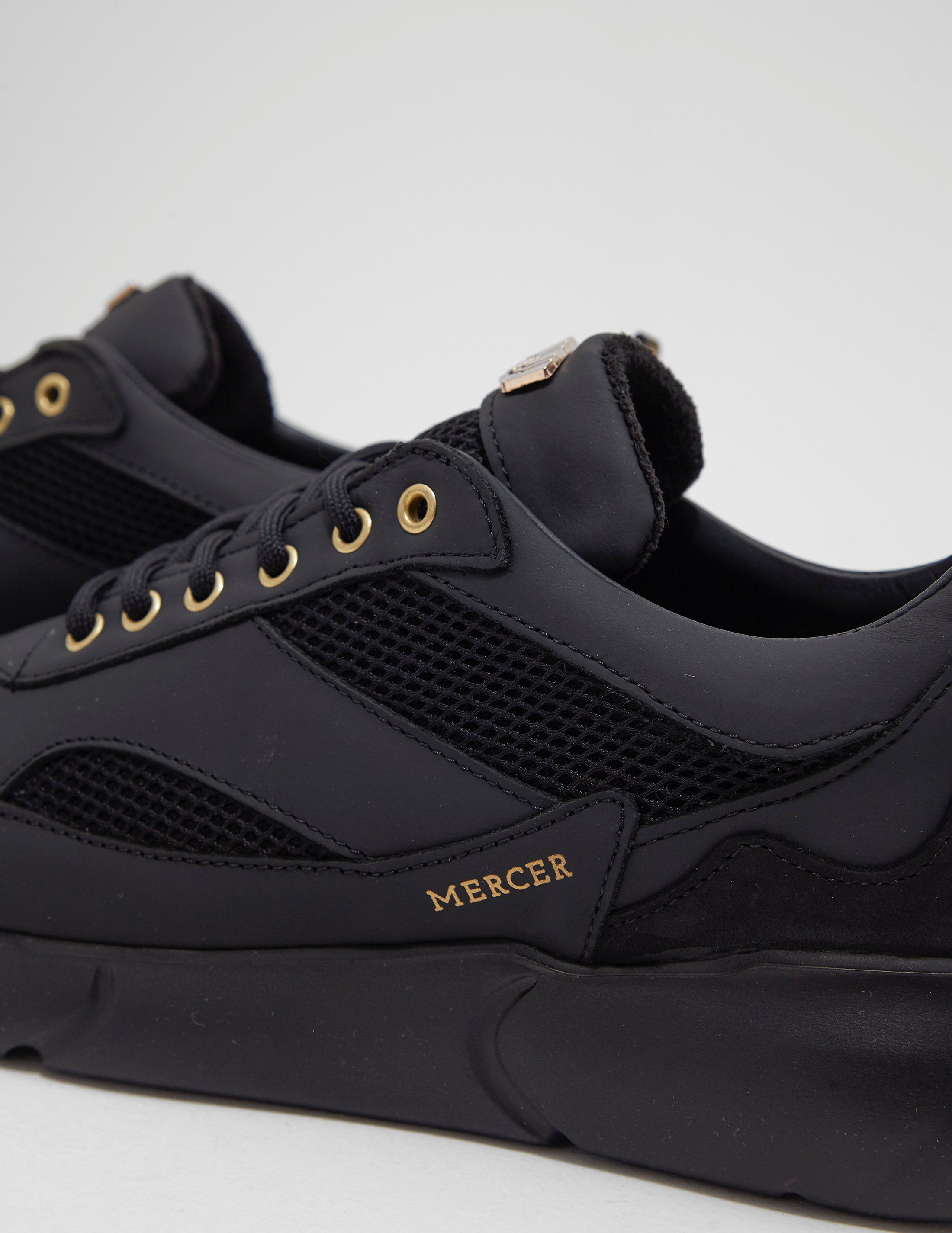 MERCER W3RD Leather Trainers