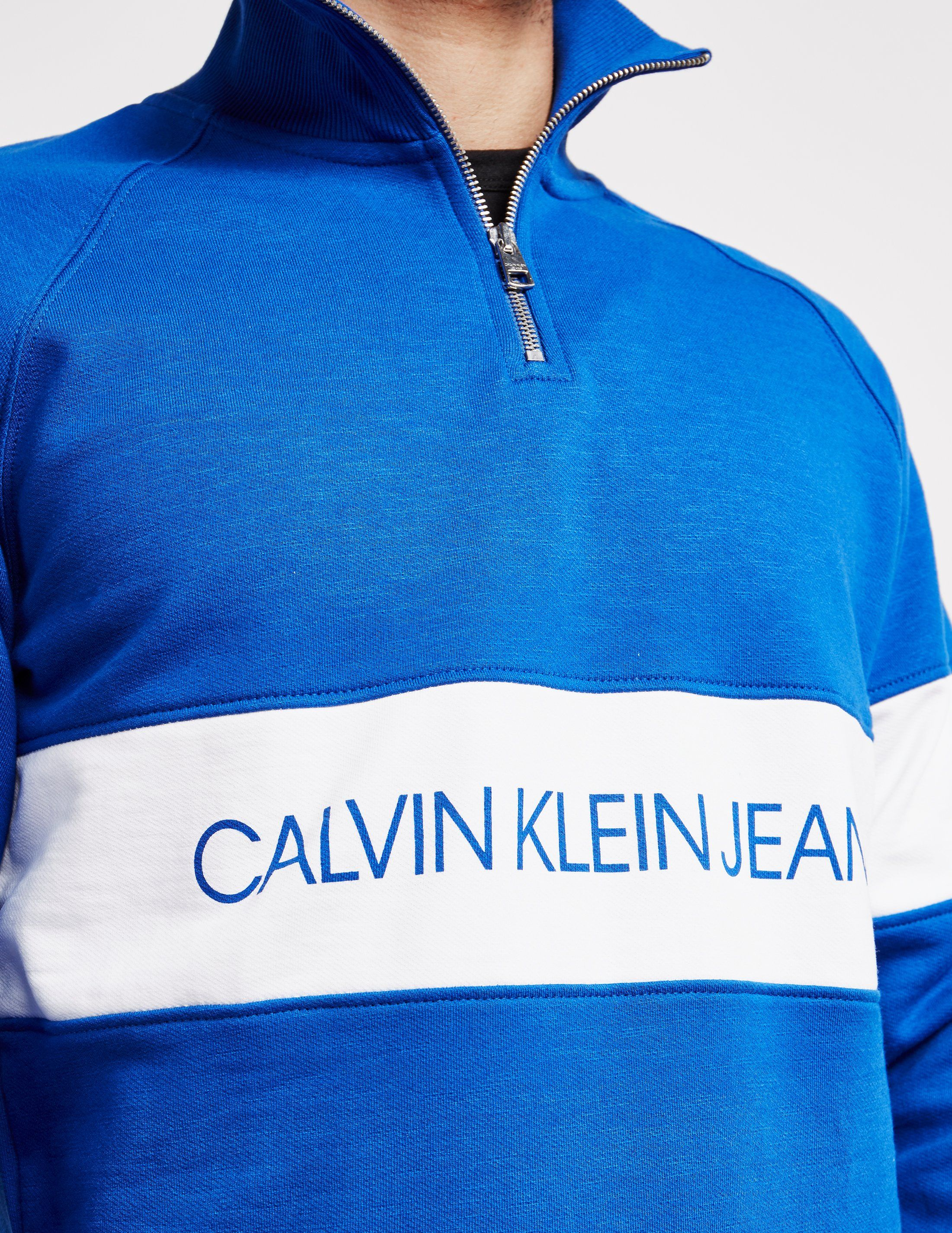 Calvin Klein Jeans Institutional Half Zip Sweatshirt