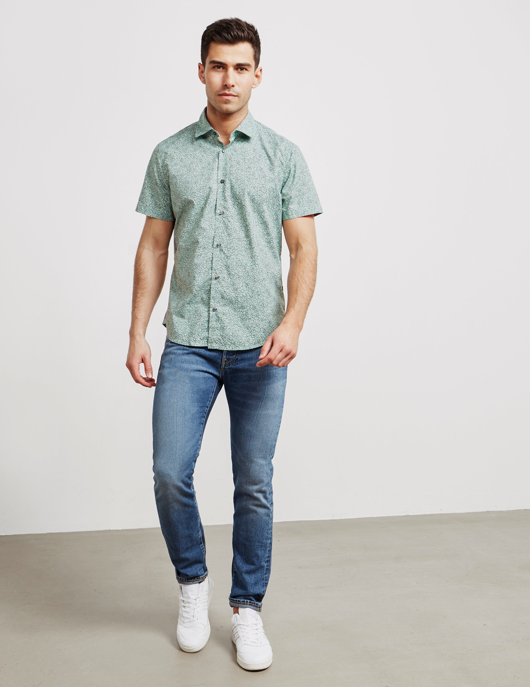 BOSS Rash Floral Short Sleeve Shirt
