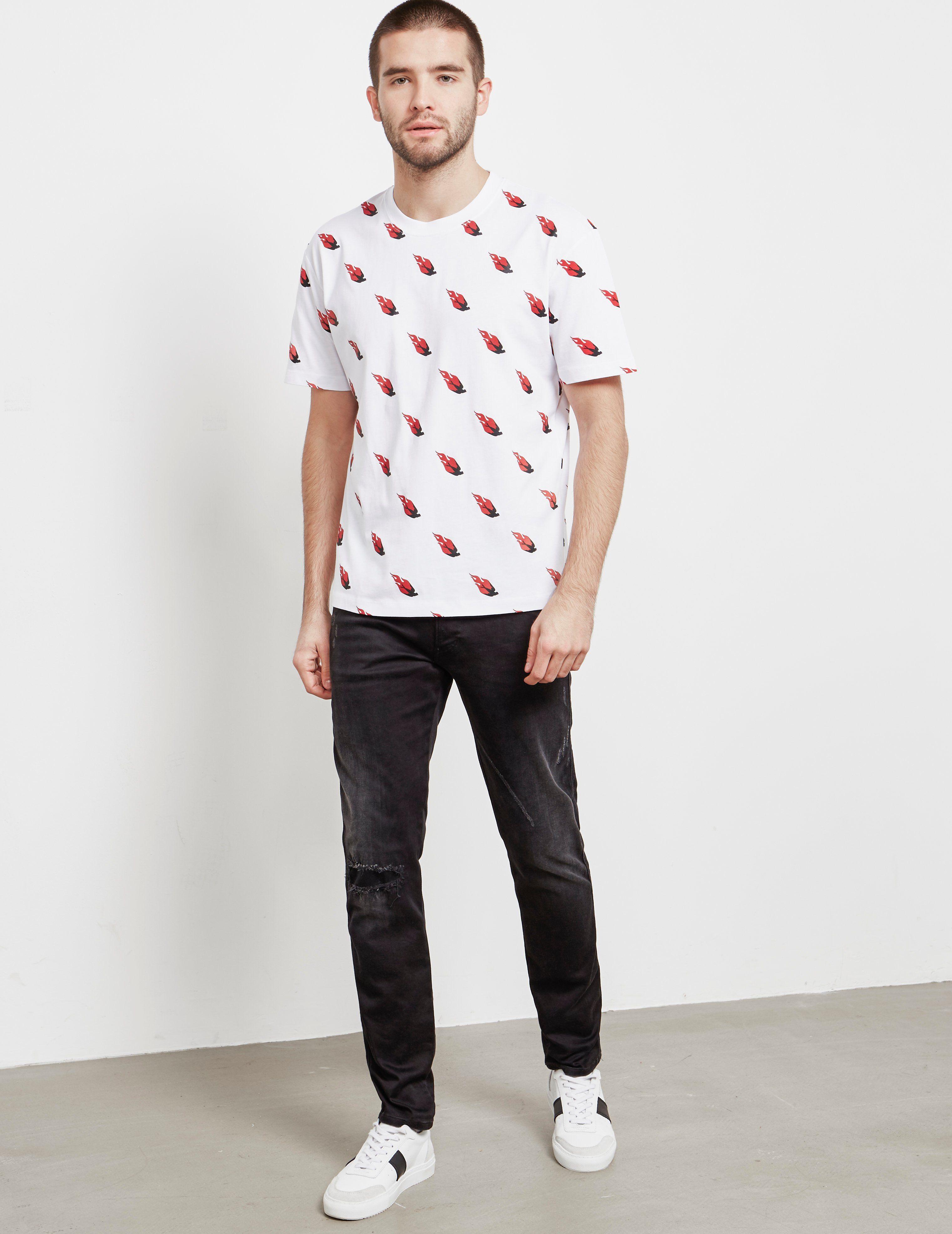 McQ Swallow Fire Short Sleeve T-Shirt