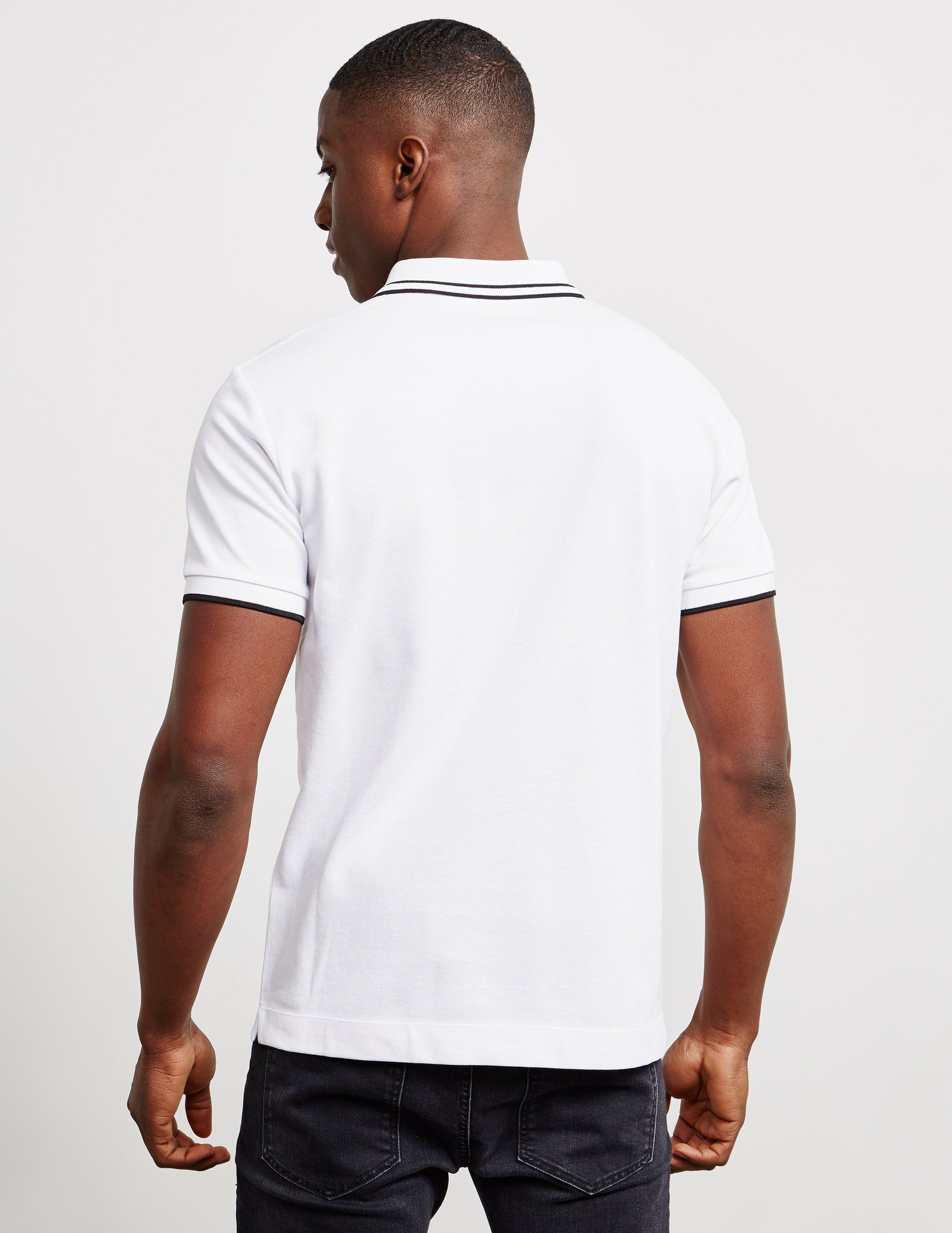 McQ Swallow Tipped Short Sleeve Polo Shirt