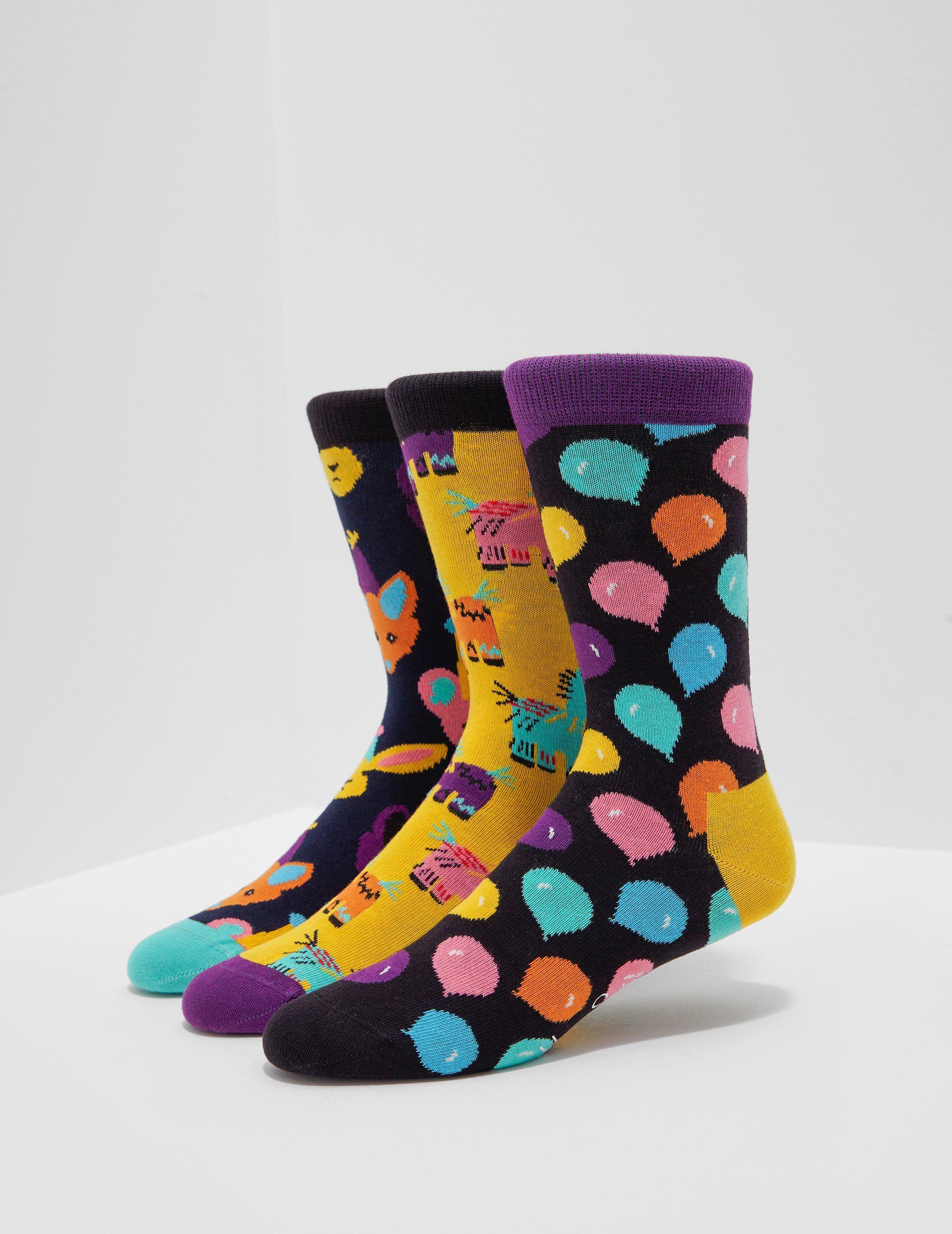 Happy Socks 3-Pack Happy Birthday Music Box Socks