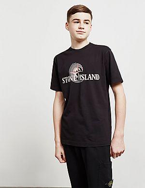 Stone Island Large Text Short Sleeve T-Shirt ... 18b6465cae