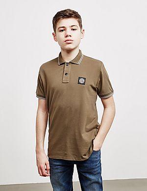 Stone Island Tipped Short Sleeve Polo Shirt ... f7dec9cbe